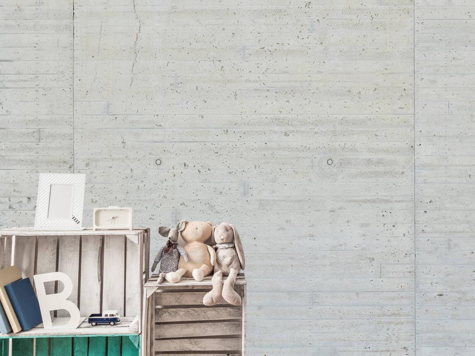 Betonlook behang - Beton stroken - Wallexclusive - Magazijn 19