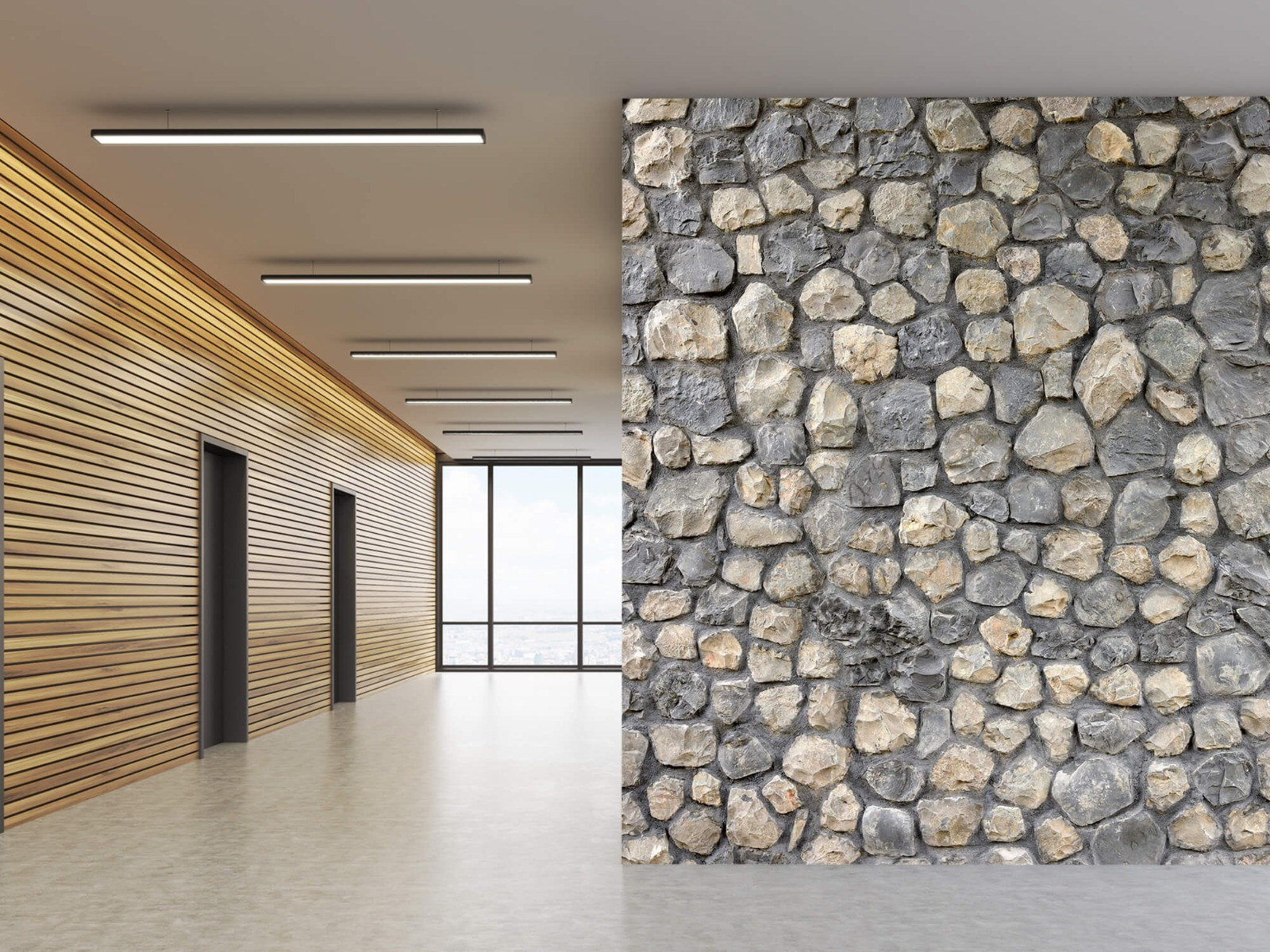 Steen behang - Breukstenen - Wallexclusive - Ontvangstruimte 1
