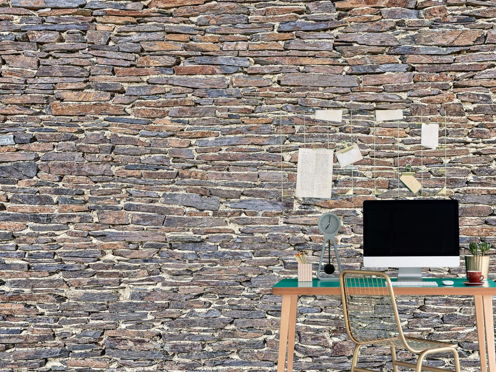 Steen behang - Leisteen - Wallexclusive - Kantoor 7