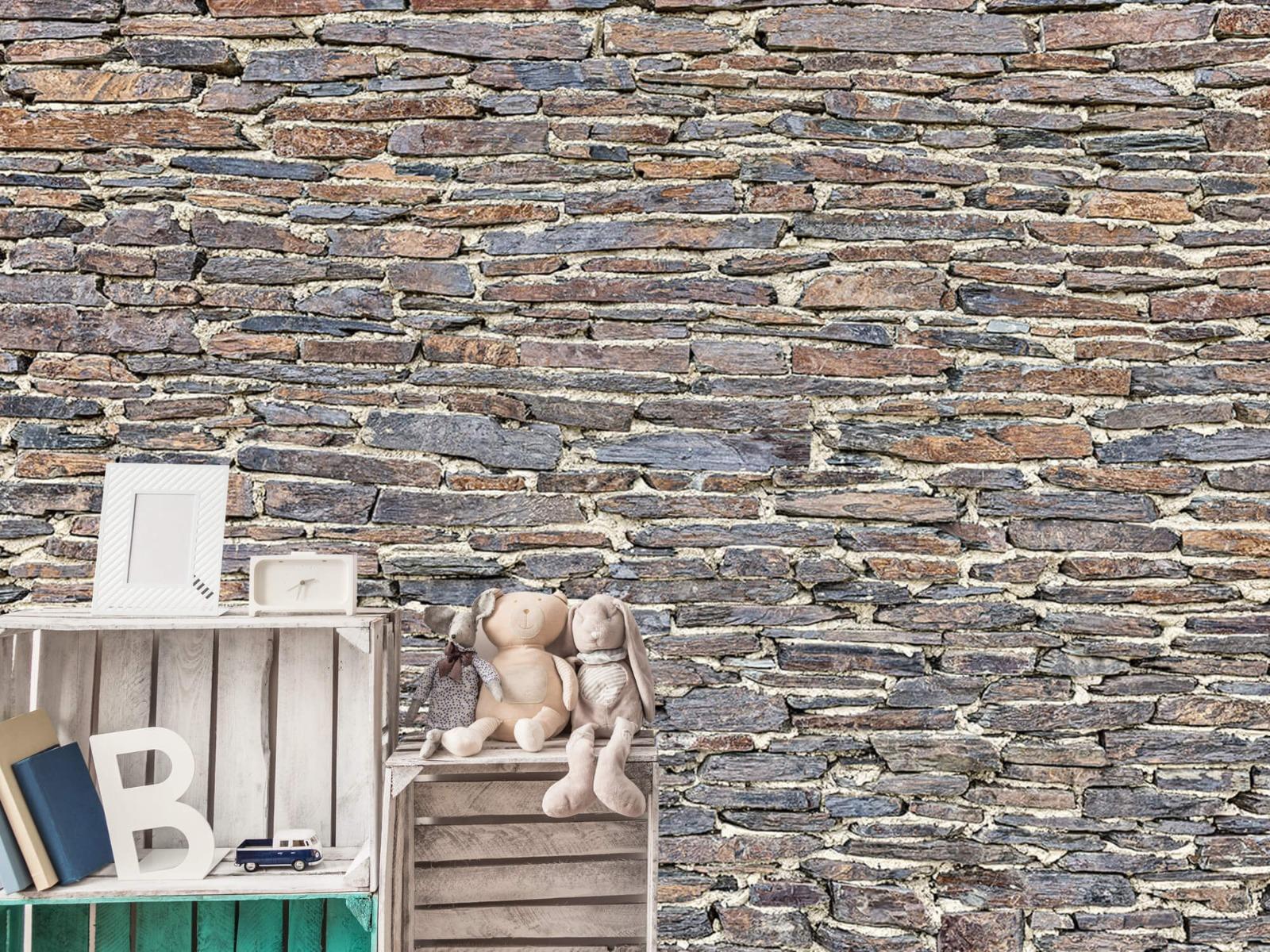 Steen behang - Leisteen - Wallexclusive - Kantoor 19
