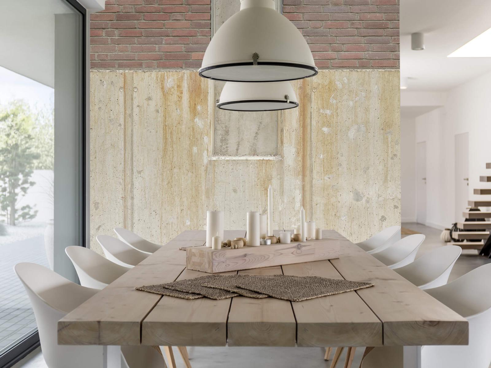Betonlook behang - Beton en bakstenen - Wallexclusive - Woonkamer 5