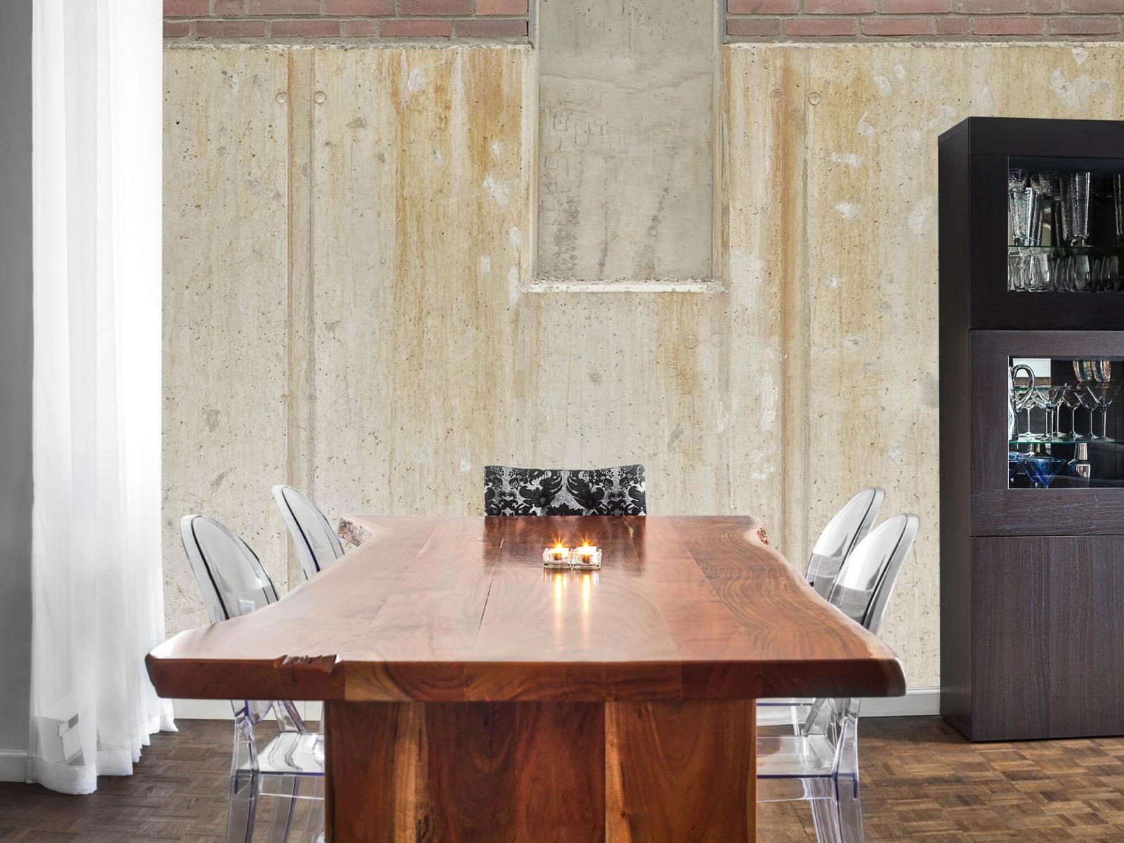 Betonlook behang - Beton en bakstenen - Wallexclusive - Woonkamer 6