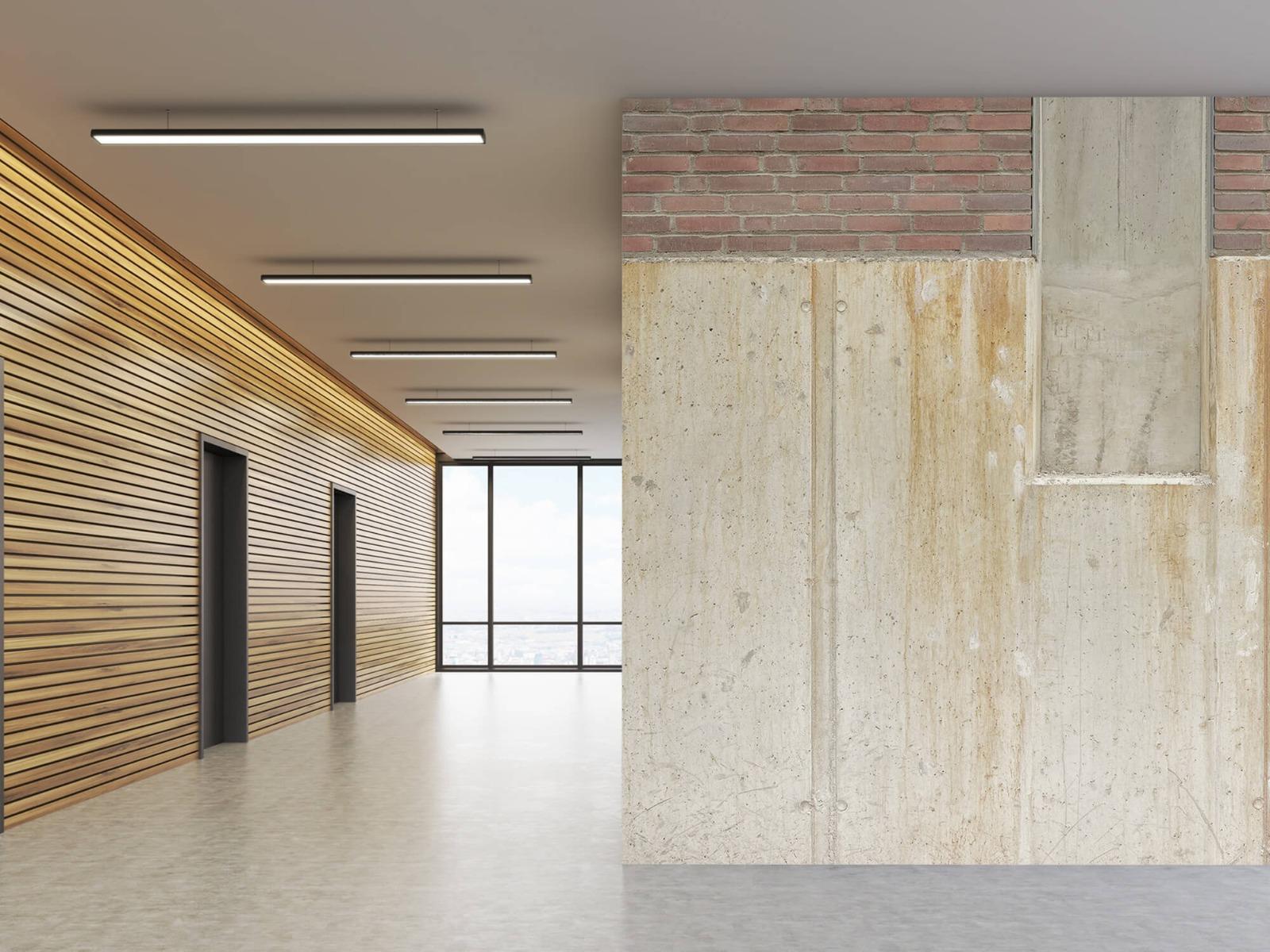 Betonlook behang - Beton en bakstenen - Wallexclusive - Woonkamer 10