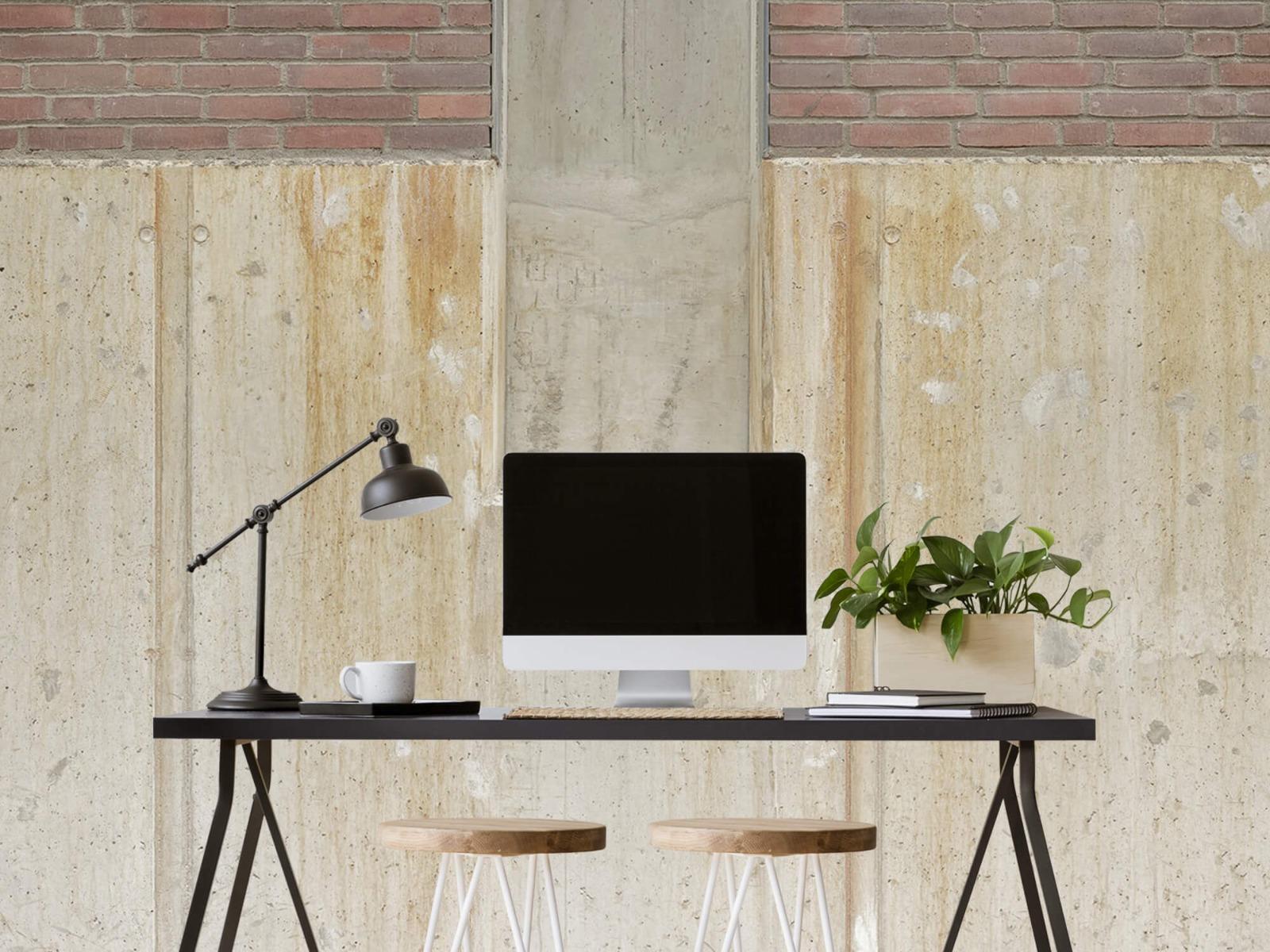 Betonlook behang - Beton en bakstenen - Wallexclusive - Woonkamer 1