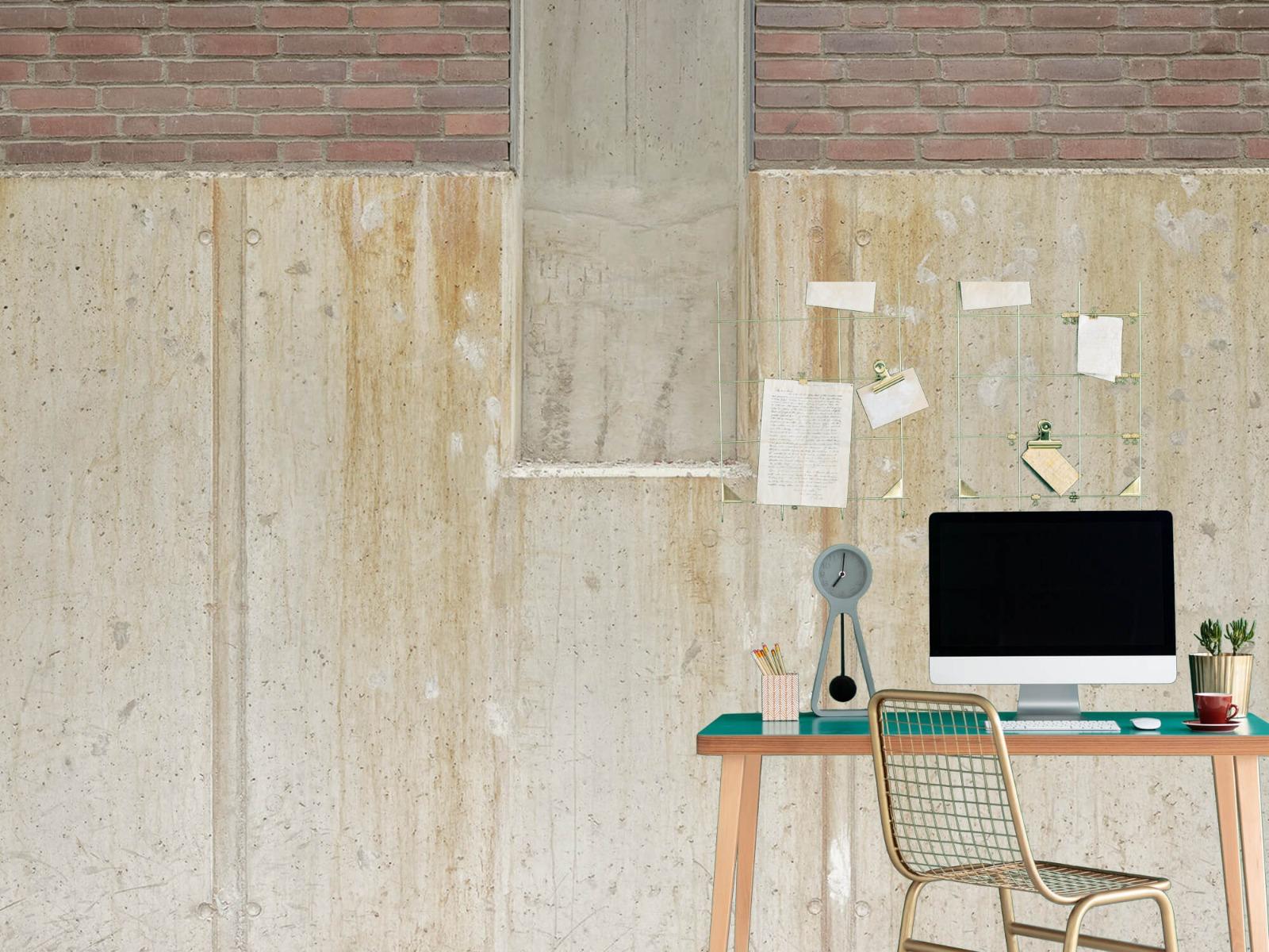 Betonlook behang - Beton en bakstenen - Wallexclusive - Woonkamer 4