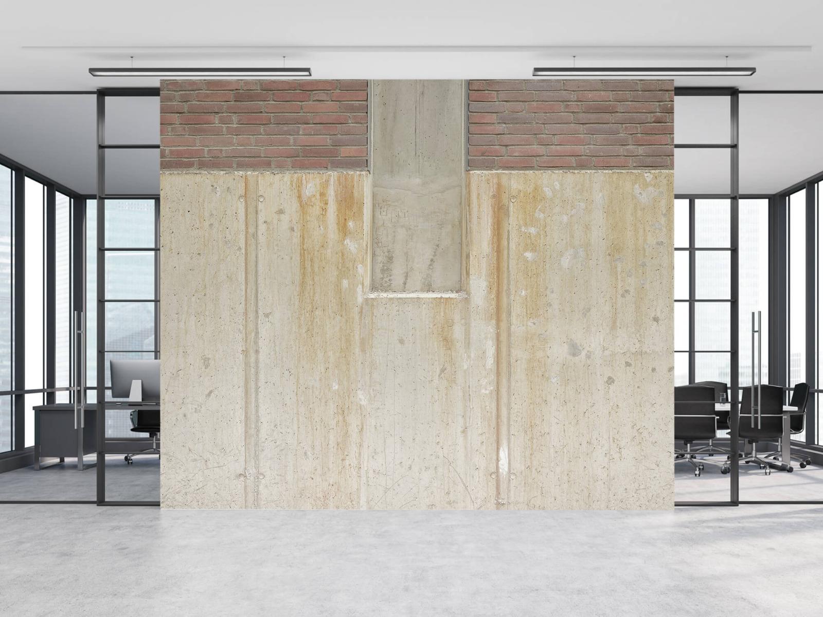 Betonlook behang - Beton en bakstenen - Wallexclusive - Woonkamer 11
