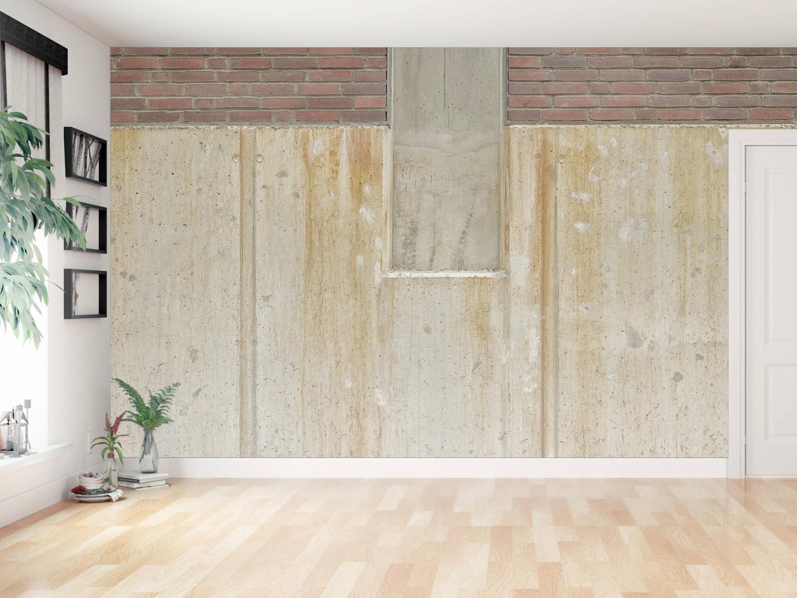 Betonlook behang - Beton en bakstenen - Wallexclusive - Woonkamer 3