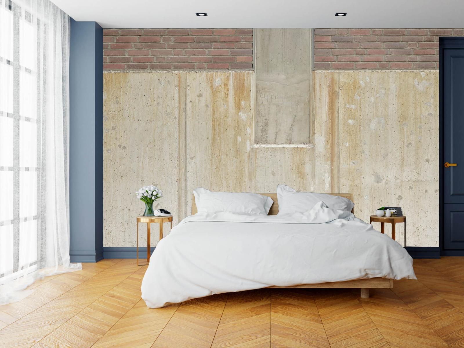 Betonlook behang - Beton en bakstenen - Wallexclusive - Woonkamer 17