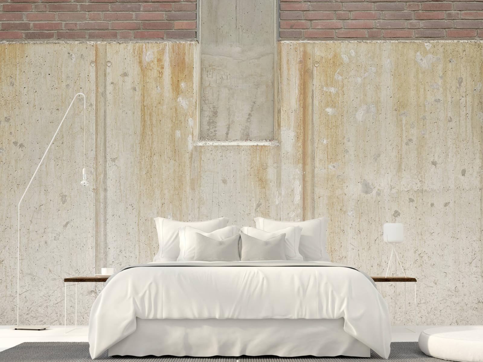 Betonlook behang - Beton en bakstenen - Wallexclusive - Woonkamer 2