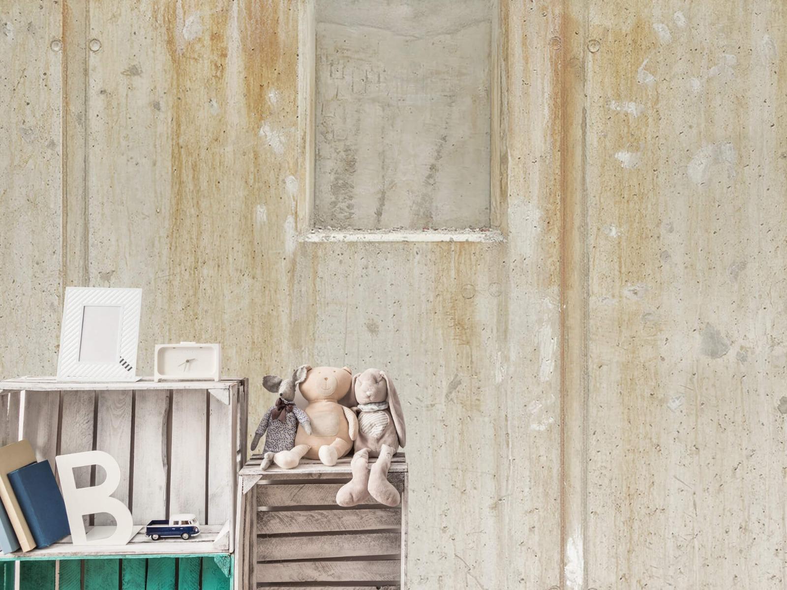 Betonlook behang - Beton en bakstenen - Wallexclusive - Woonkamer 20
