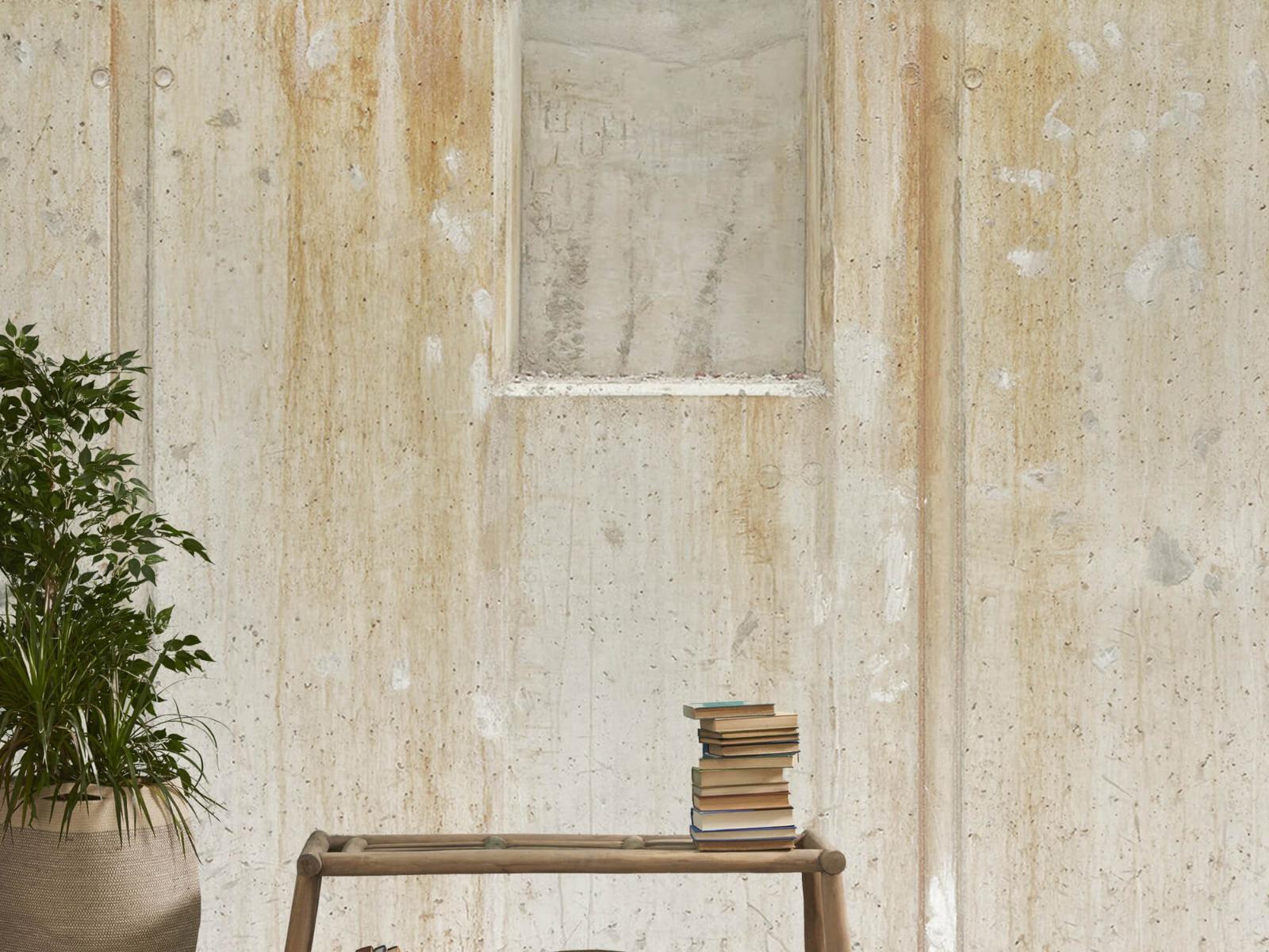 Betonlook behang - Beton en bakstenen - Wallexclusive - Woonkamer 21