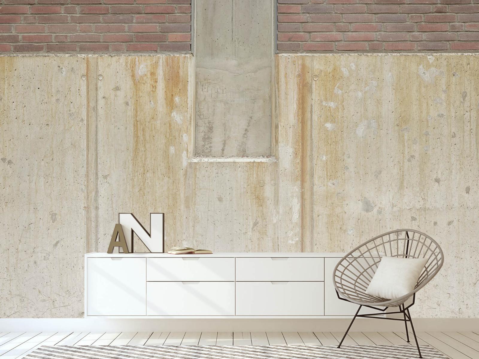 Betonlook behang - Beton en bakstenen - Wallexclusive - Woonkamer 24