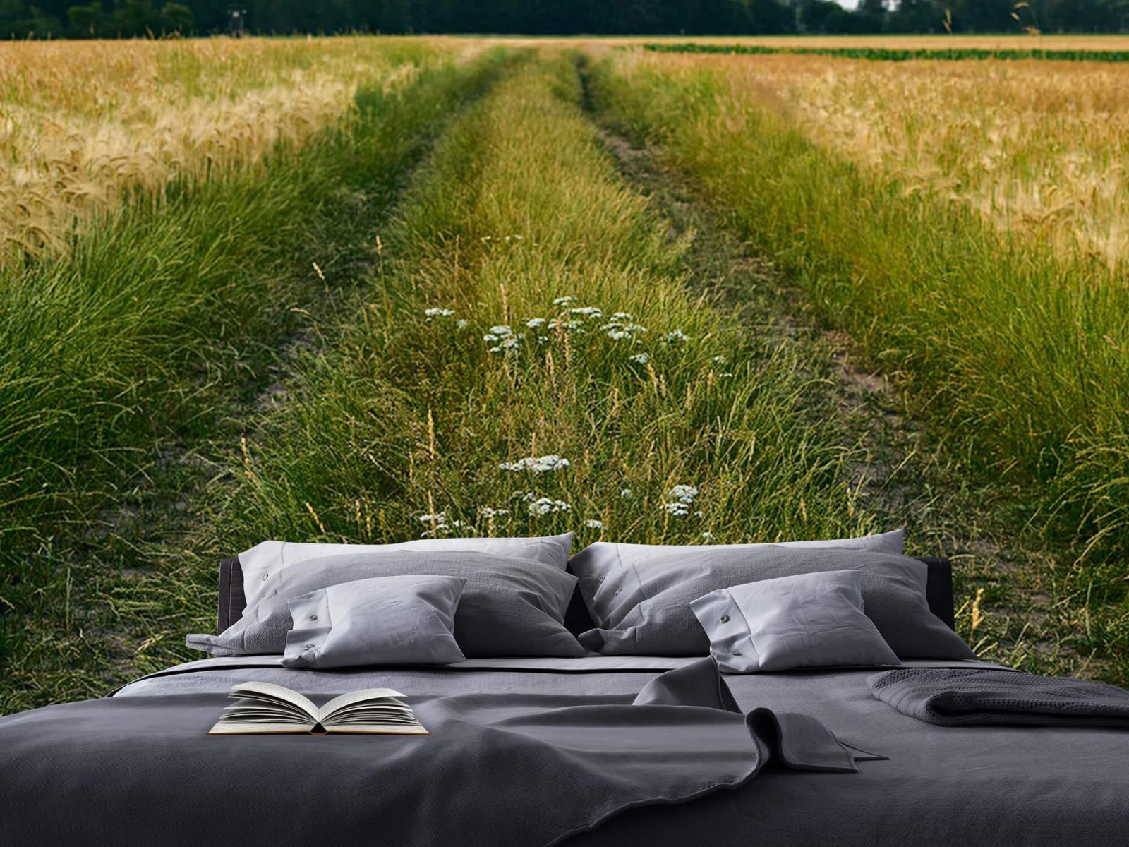 Landschap - Spoor in korenveld - Wallexclusive - Slaapkamer 17