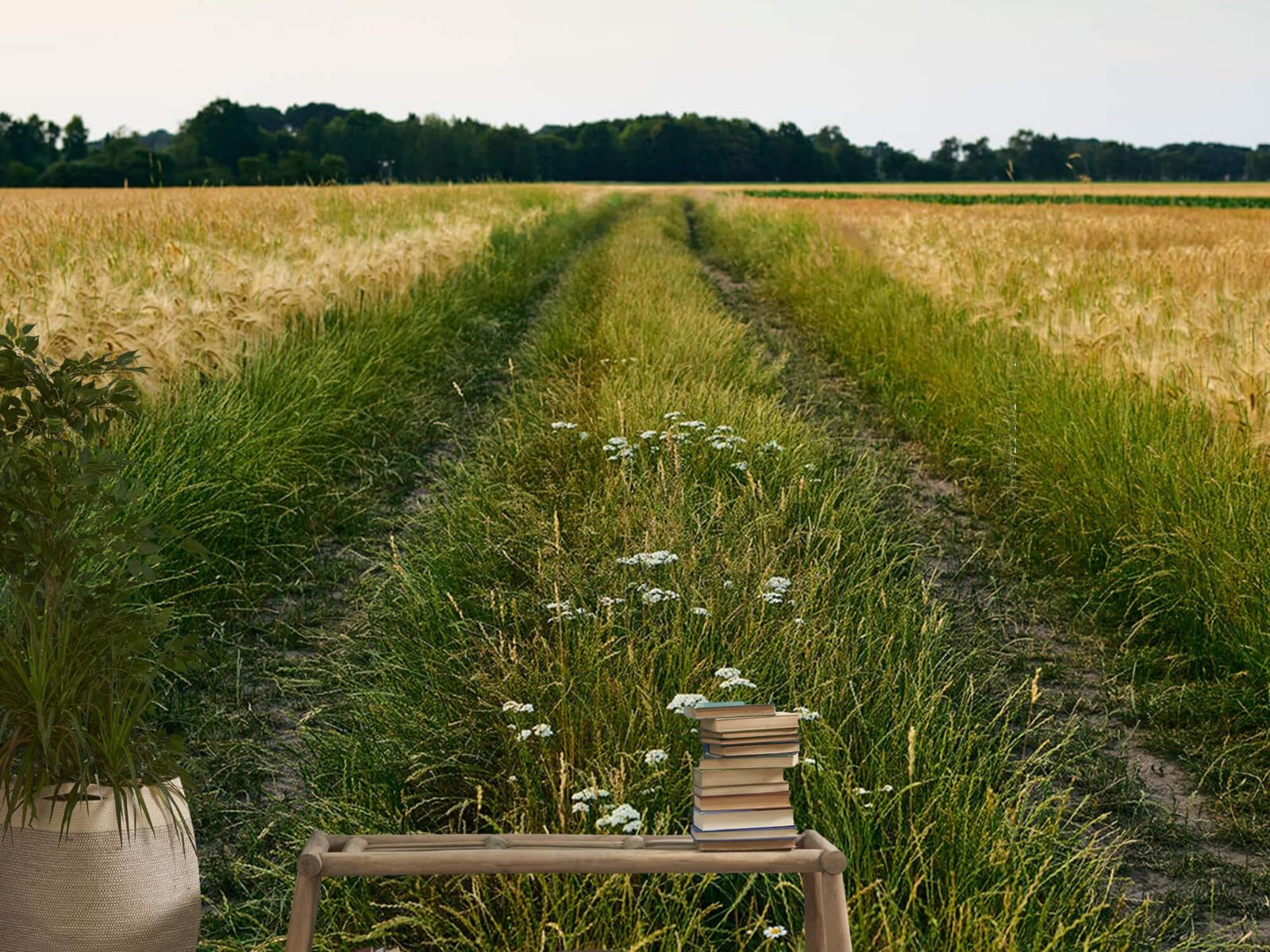 Landschap - Spoor in korenveld - Wallexclusive - Slaapkamer 20