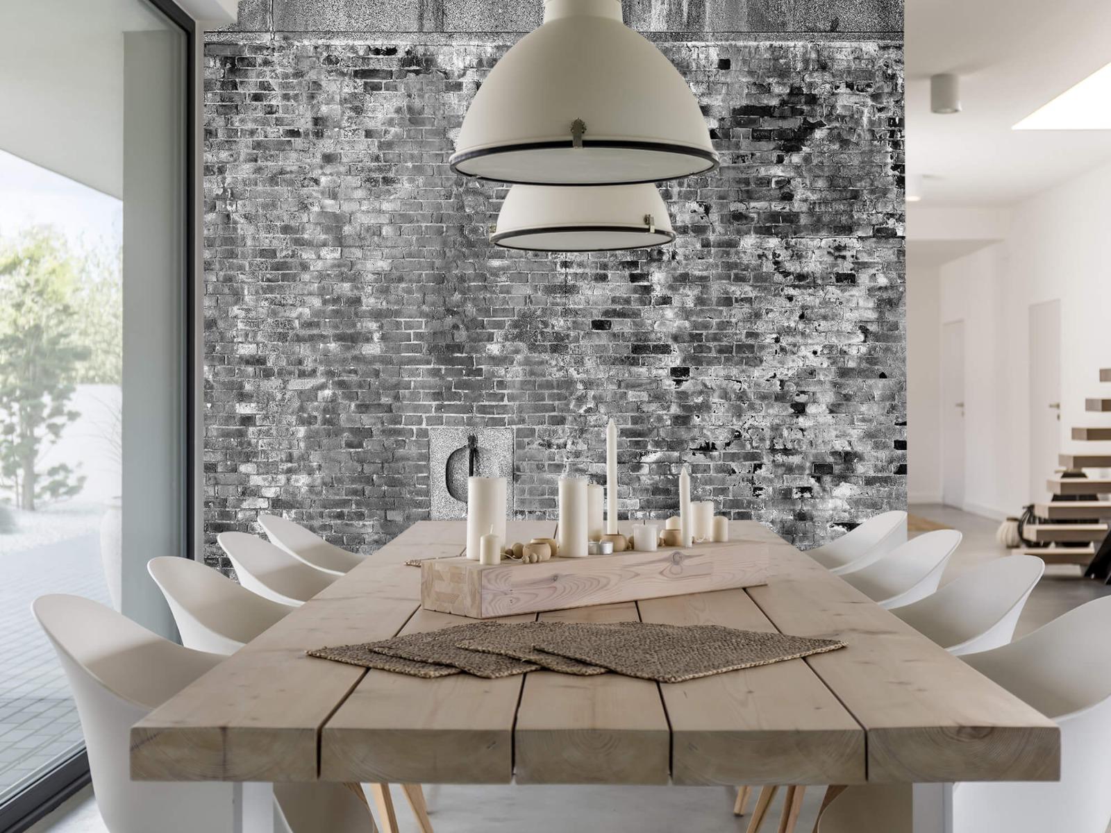 Steen behang - Verweerde muur - Tienerkamer 22