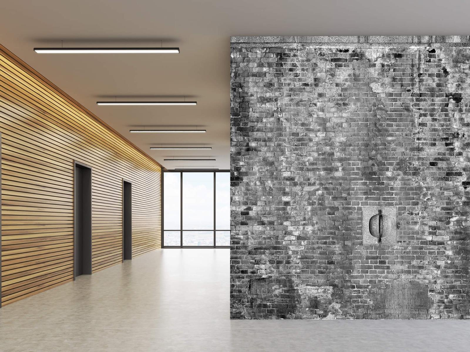Steen behang - Verweerde muur - Tienerkamer 8