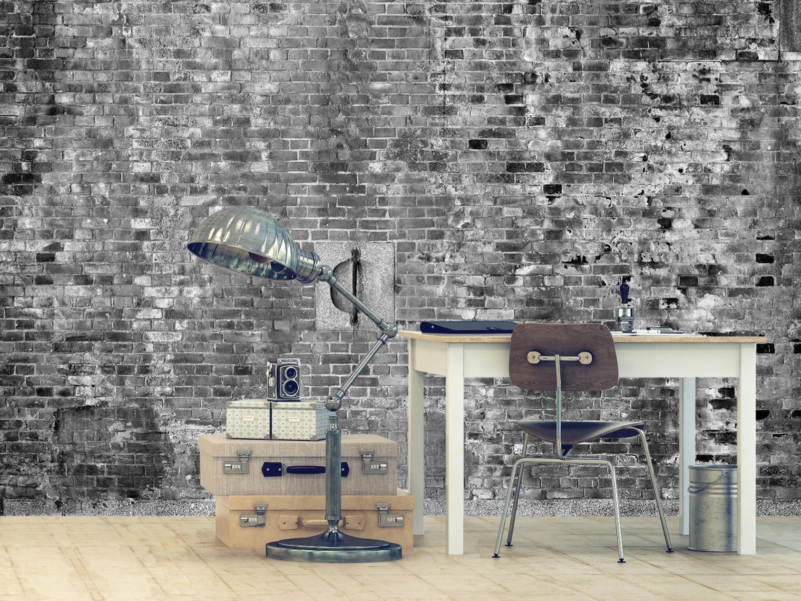 Steen behang - Verweerde muur - Tienerkamer 12