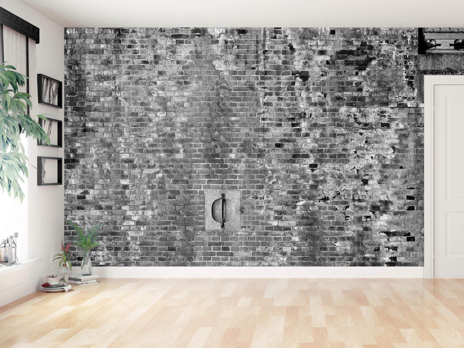 Steen behang - Verweerde muur - Tienerkamer 14