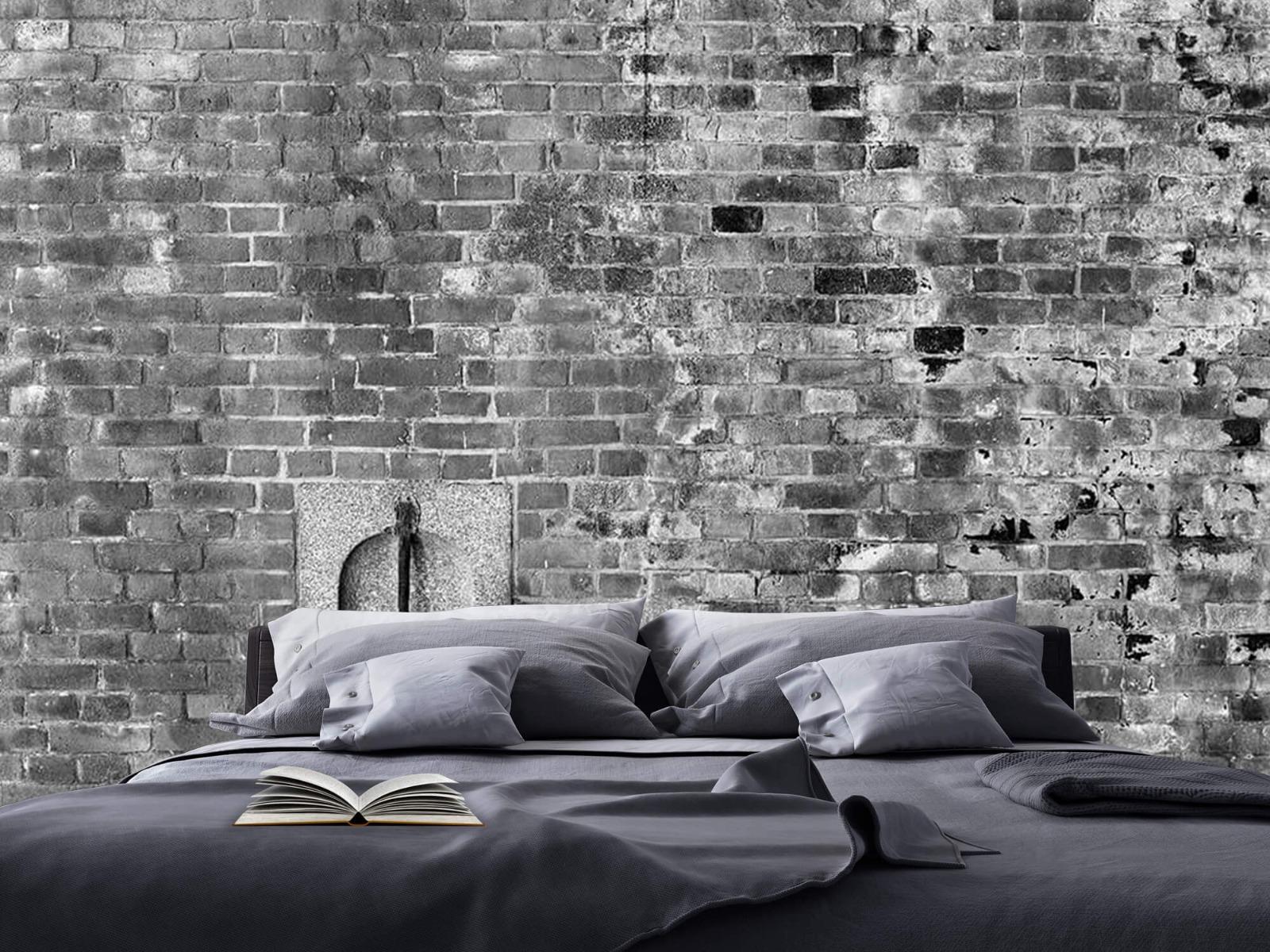Steen behang - Verweerde muur - Tienerkamer 18