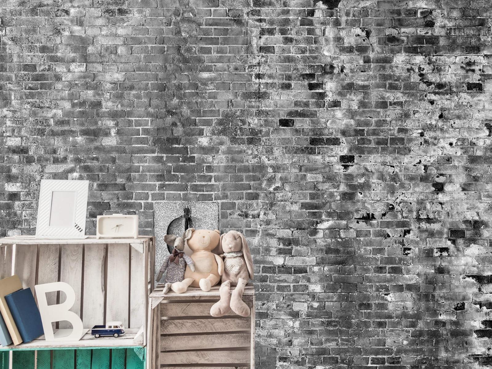 Steen behang - Verweerde muur - Tienerkamer 20