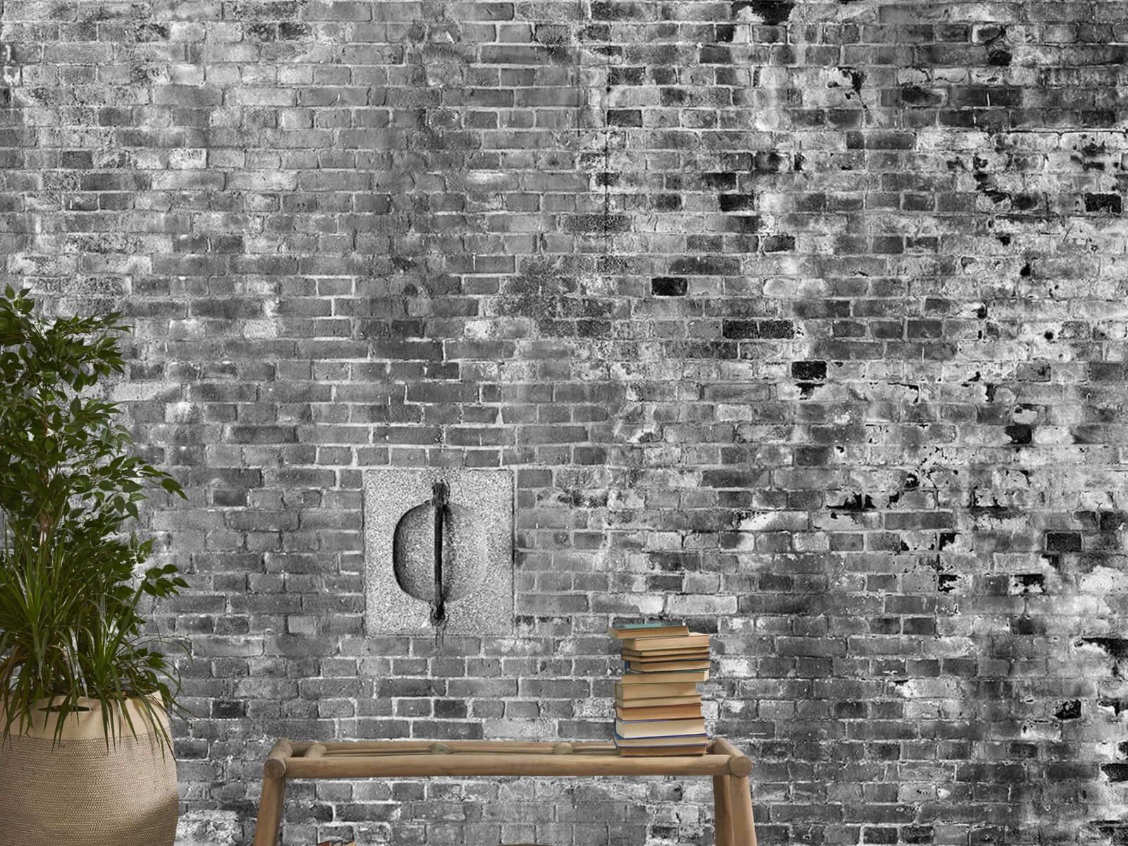 Steen behang - Verweerde muur - Tienerkamer 21