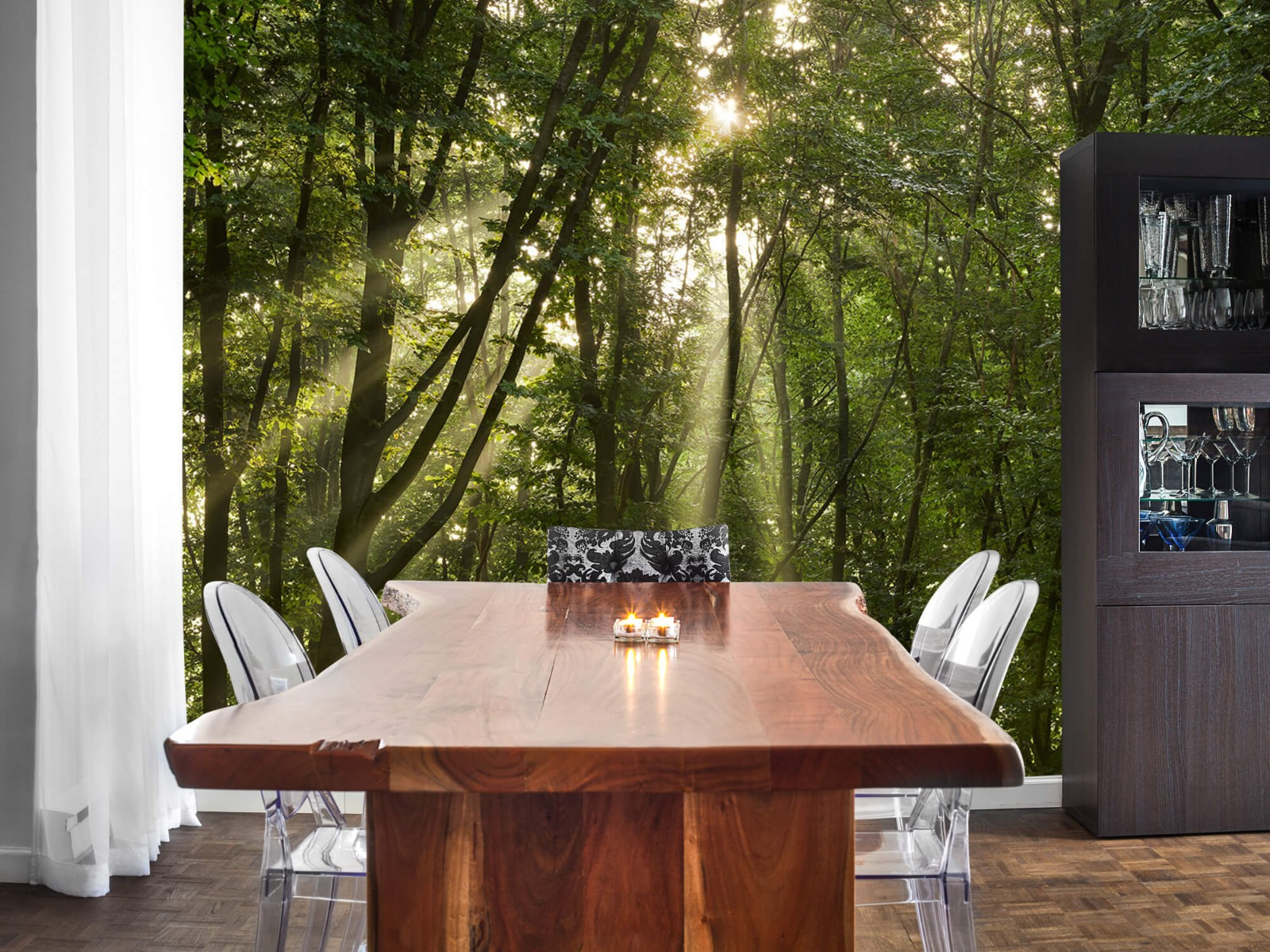 Bomen - Zonnestralen in het bos - Slaapkamer 2