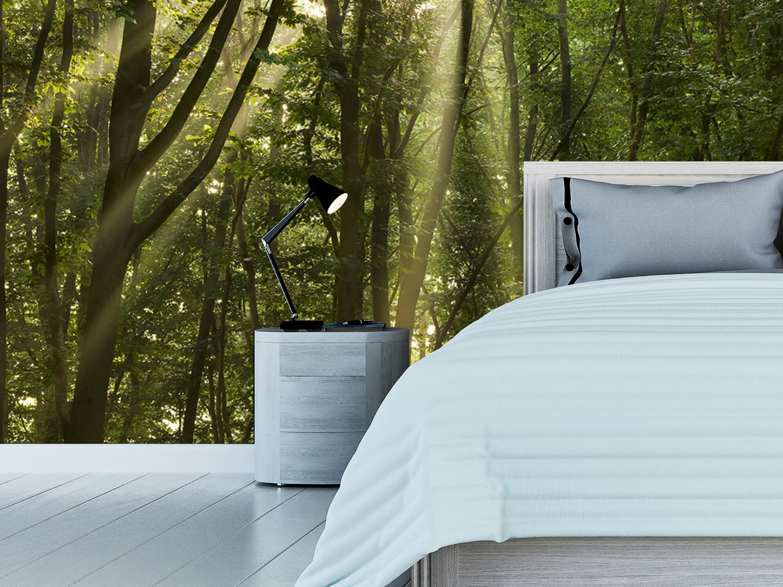Bomen - Zonnestralen in het bos - Slaapkamer 12
