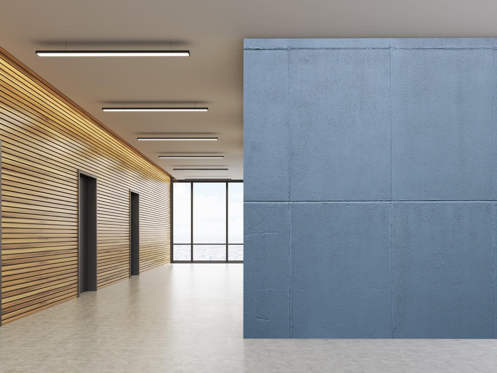 Betonlook behang - Geschilderde betonnen platen - Kantoor 10