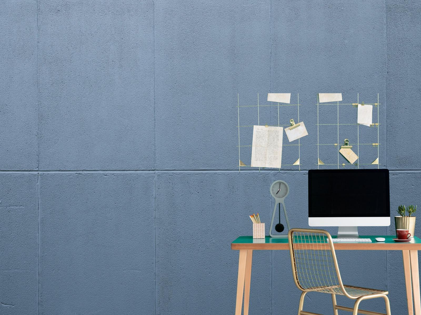 Betonlook behang - Geschilderde betonnen platen - Kantoor 1