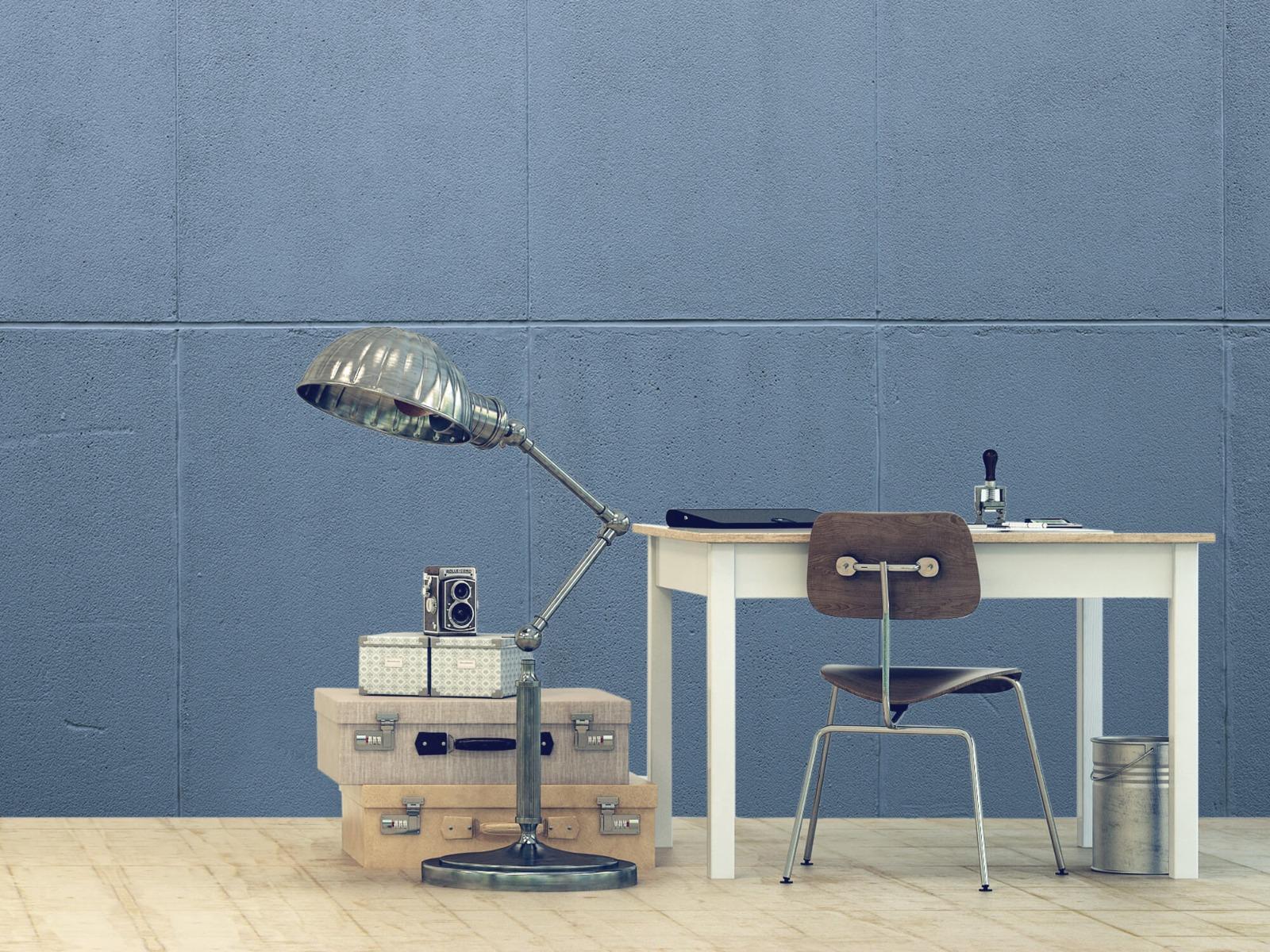 Betonlook behang - Geschilderde betonnen platen - Kantoor 13