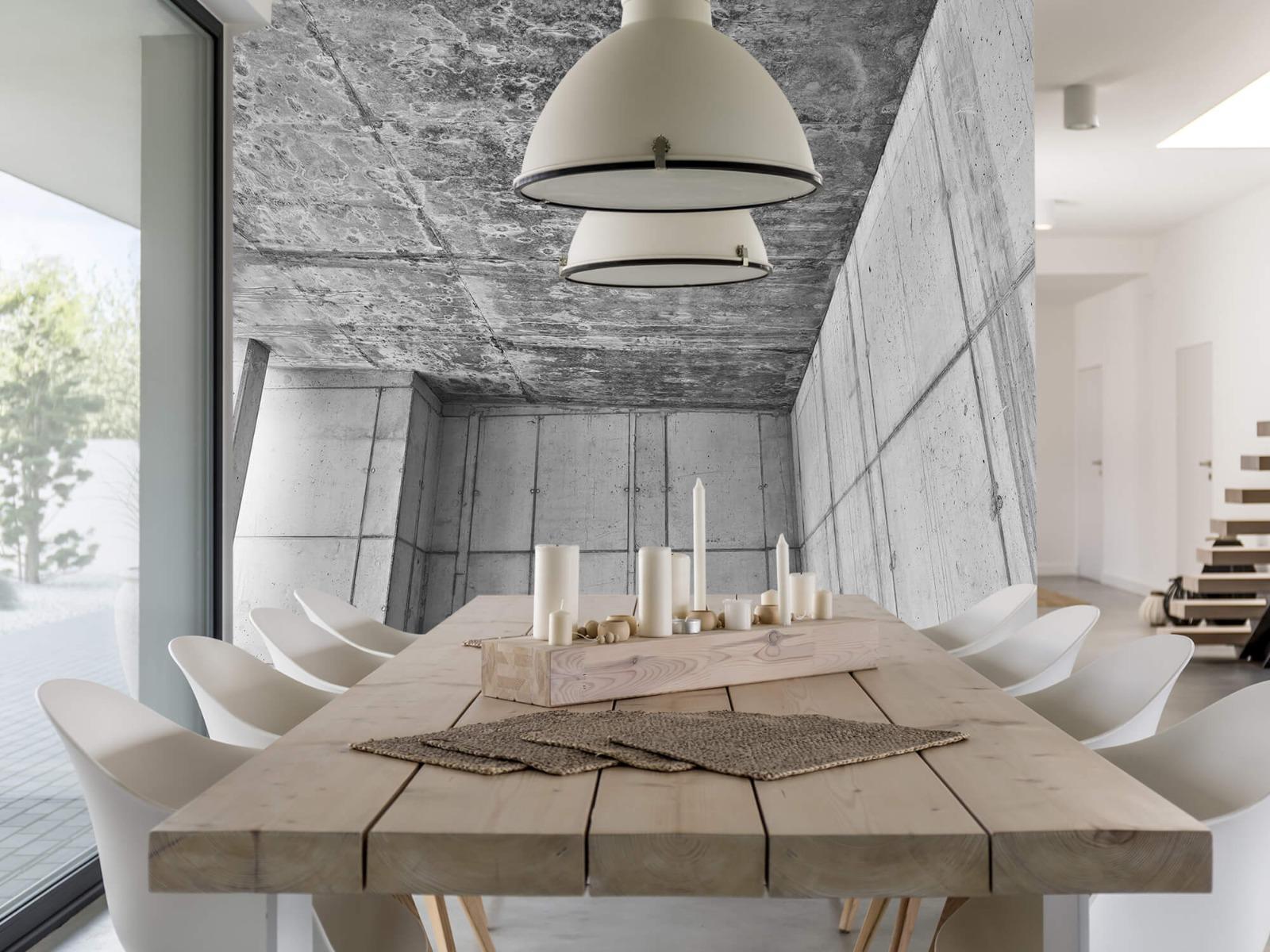 Betonlook behang - 3D beton - Kantoor 1