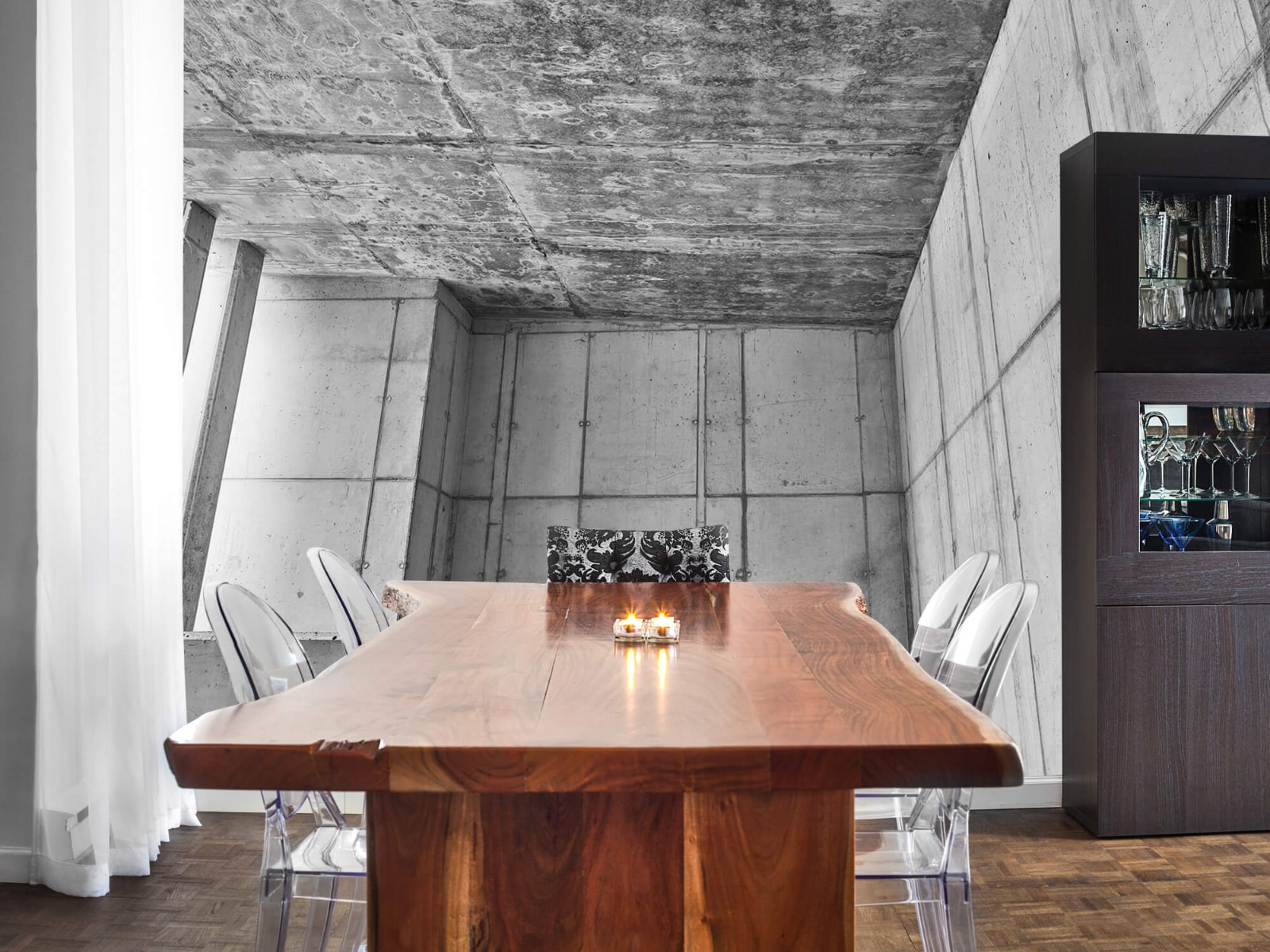 Betonlook behang - 3D beton - Kantoor 2
