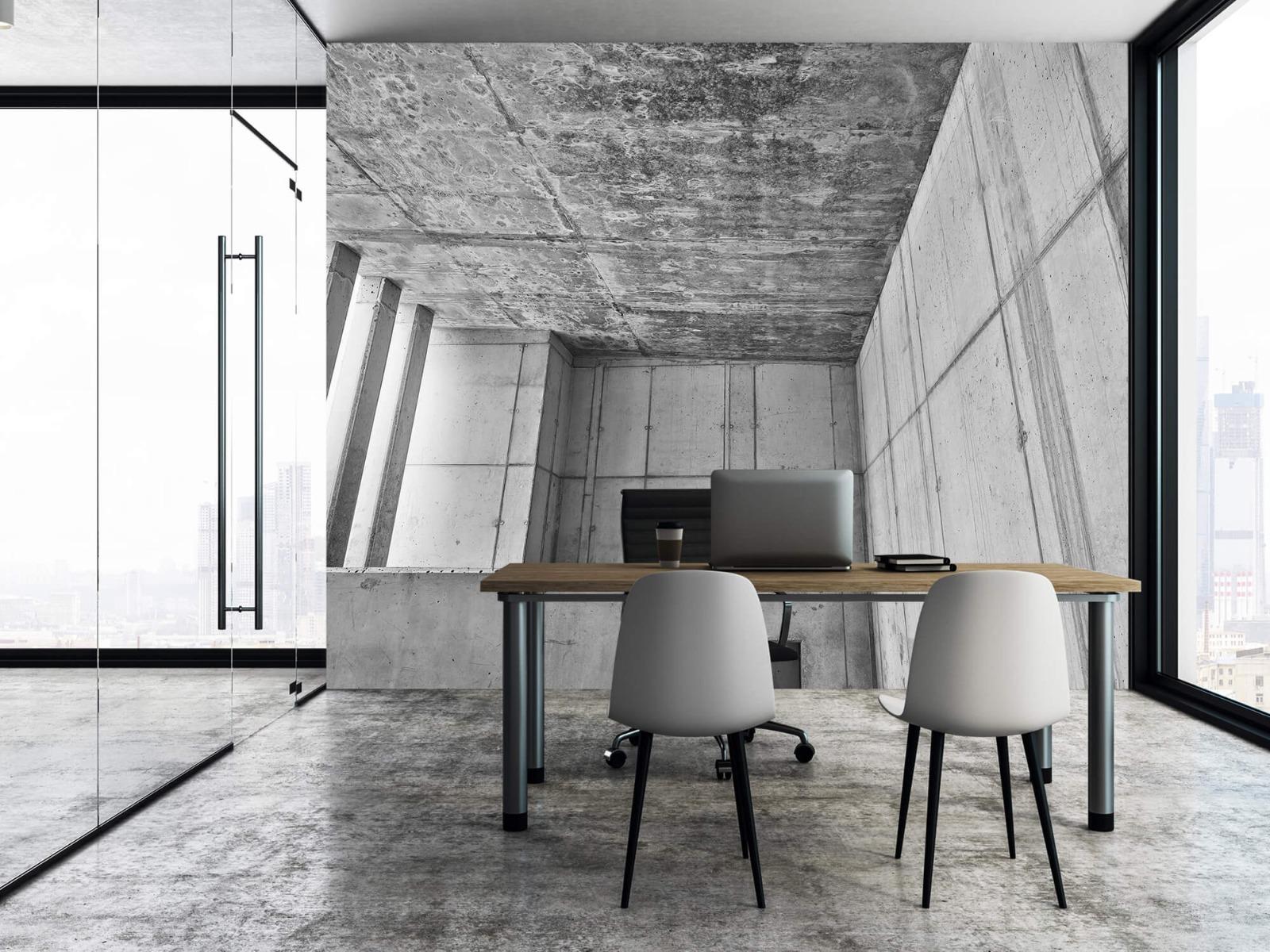 Betonlook behang - 3D beton - Kantoor 3