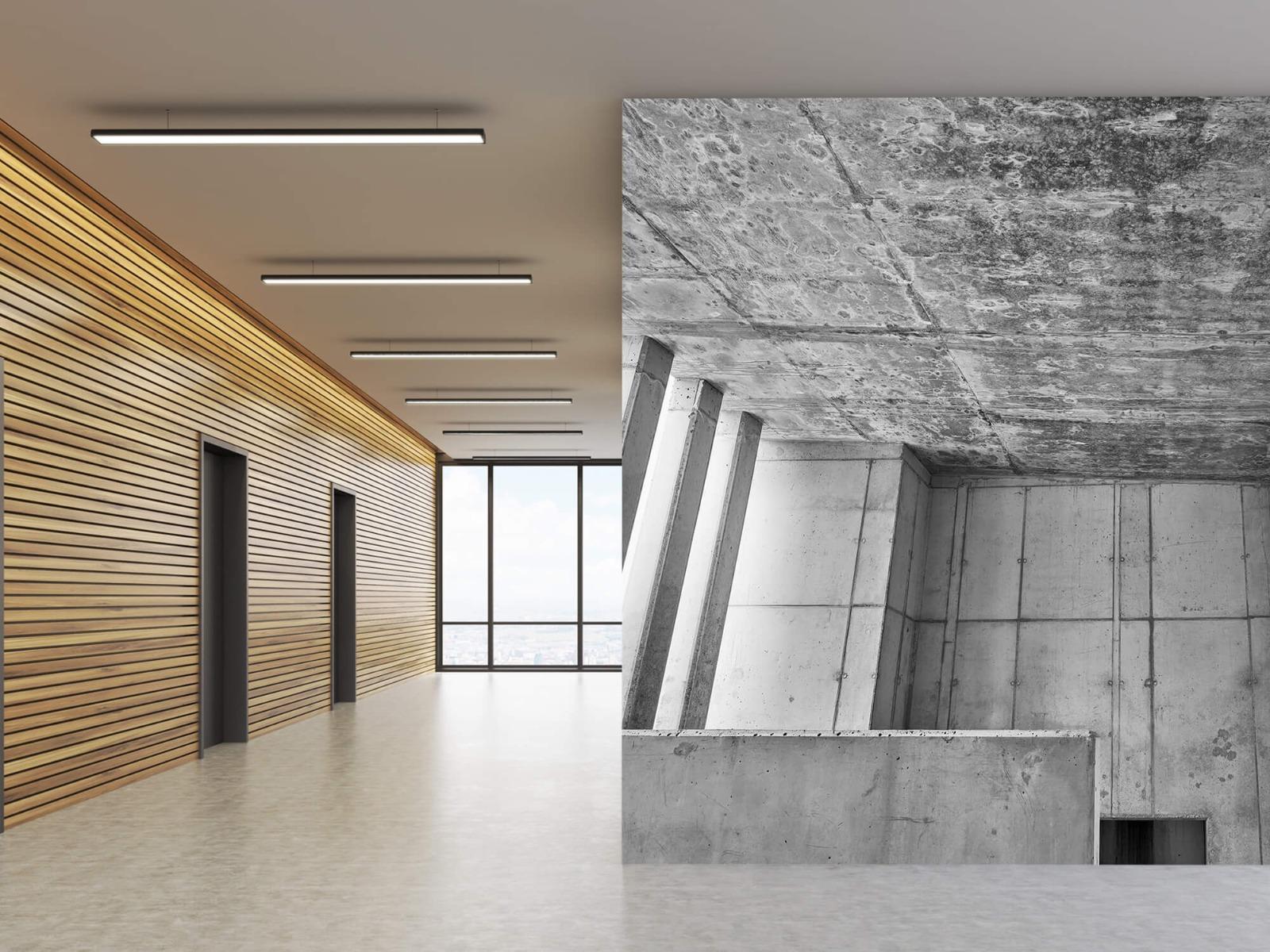 Betonlook behang - 3D beton - Kantoor 5