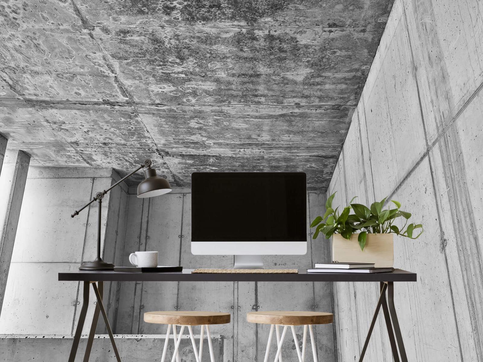 Betonlook behang - 3D beton - Kantoor 6