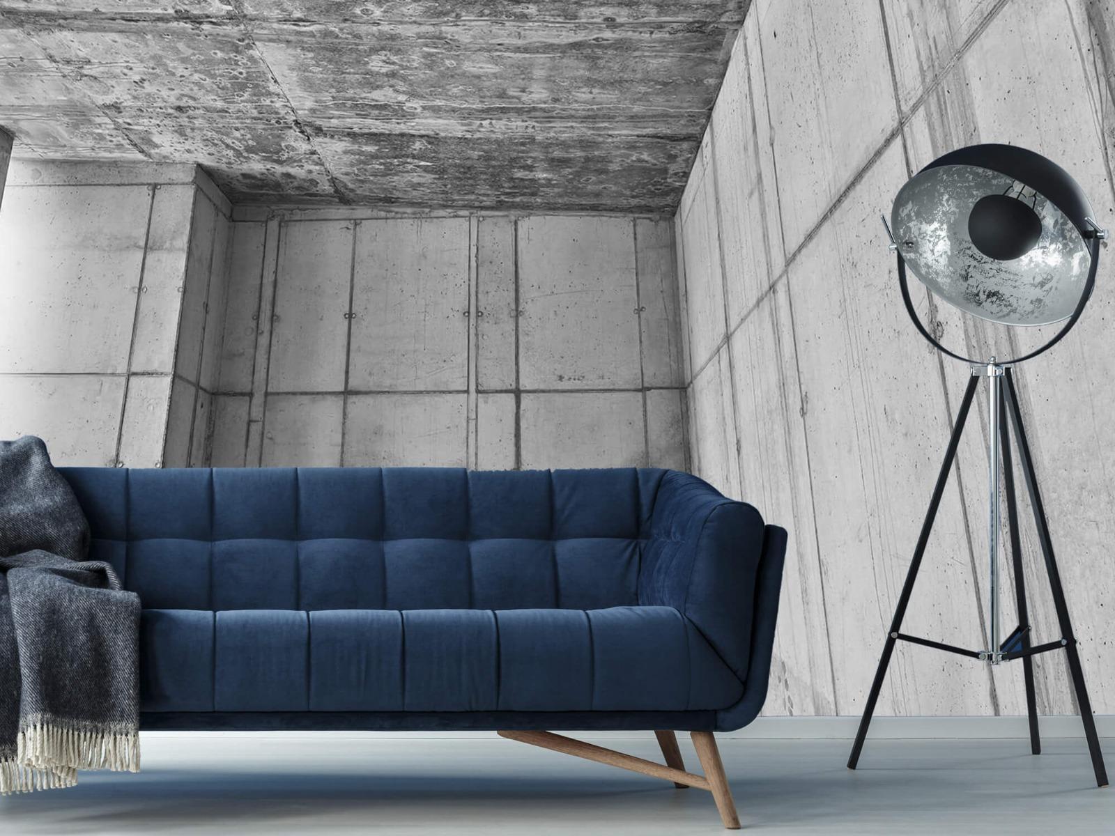 Betonlook behang - 3D beton - Kantoor 10