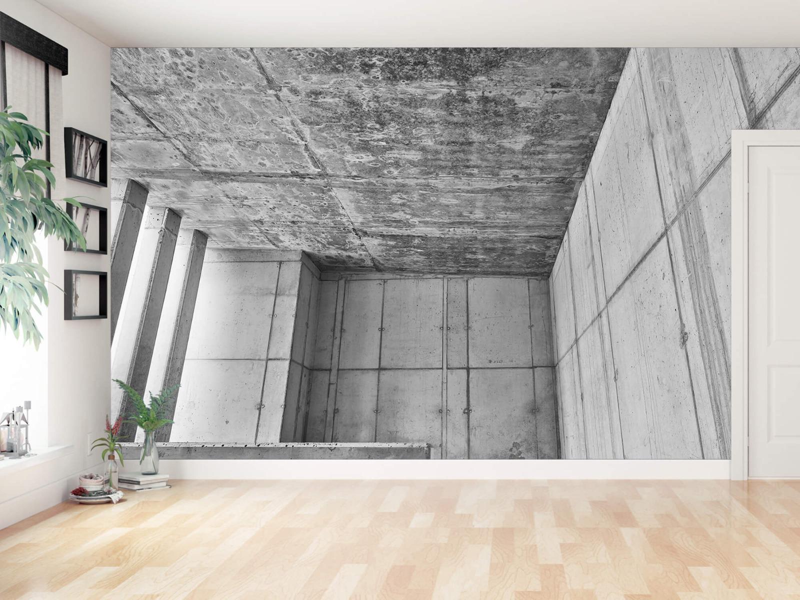 Betonlook behang - 3D beton - Kantoor 11