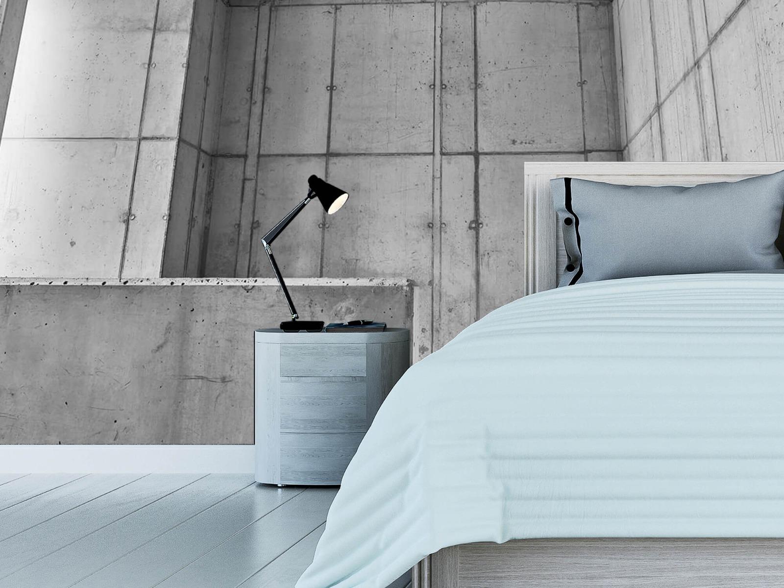 Betonlook behang - 3D beton - Kantoor 12