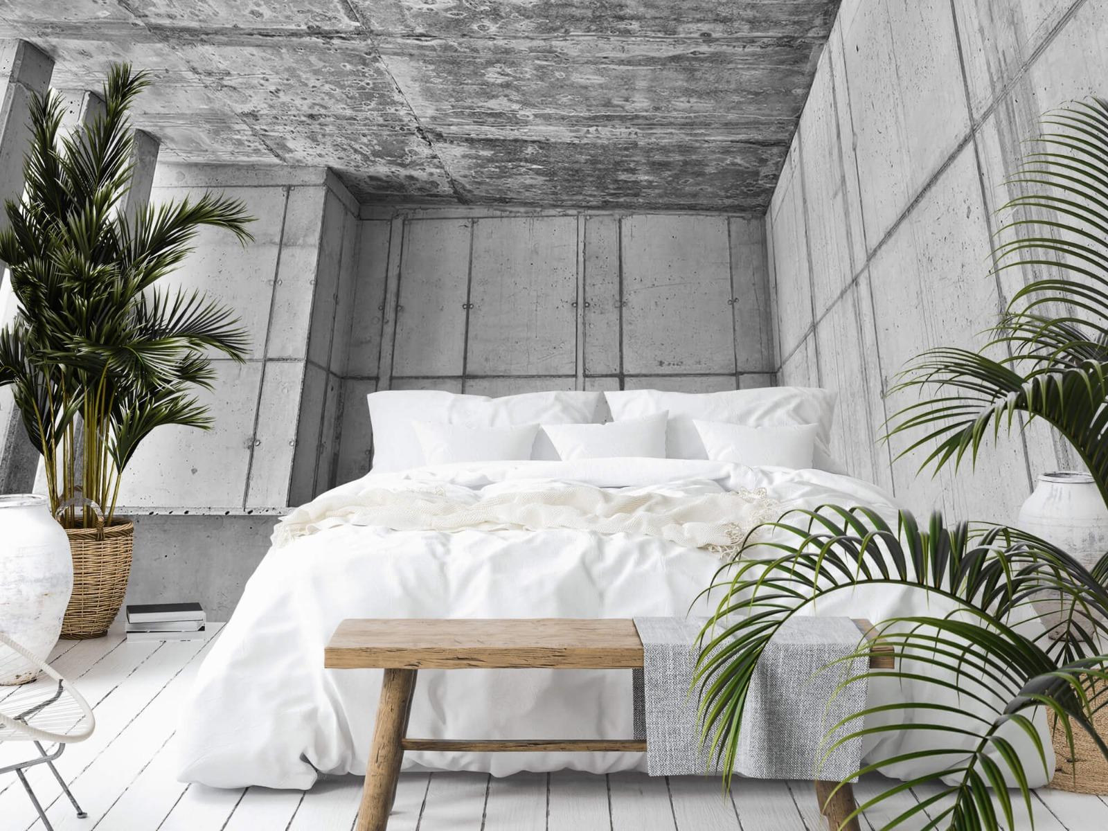 Betonlook behang - 3D beton - Kantoor 13