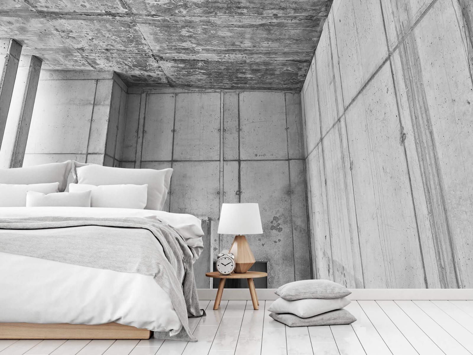 Betonlook behang - 3D beton - Kantoor 14
