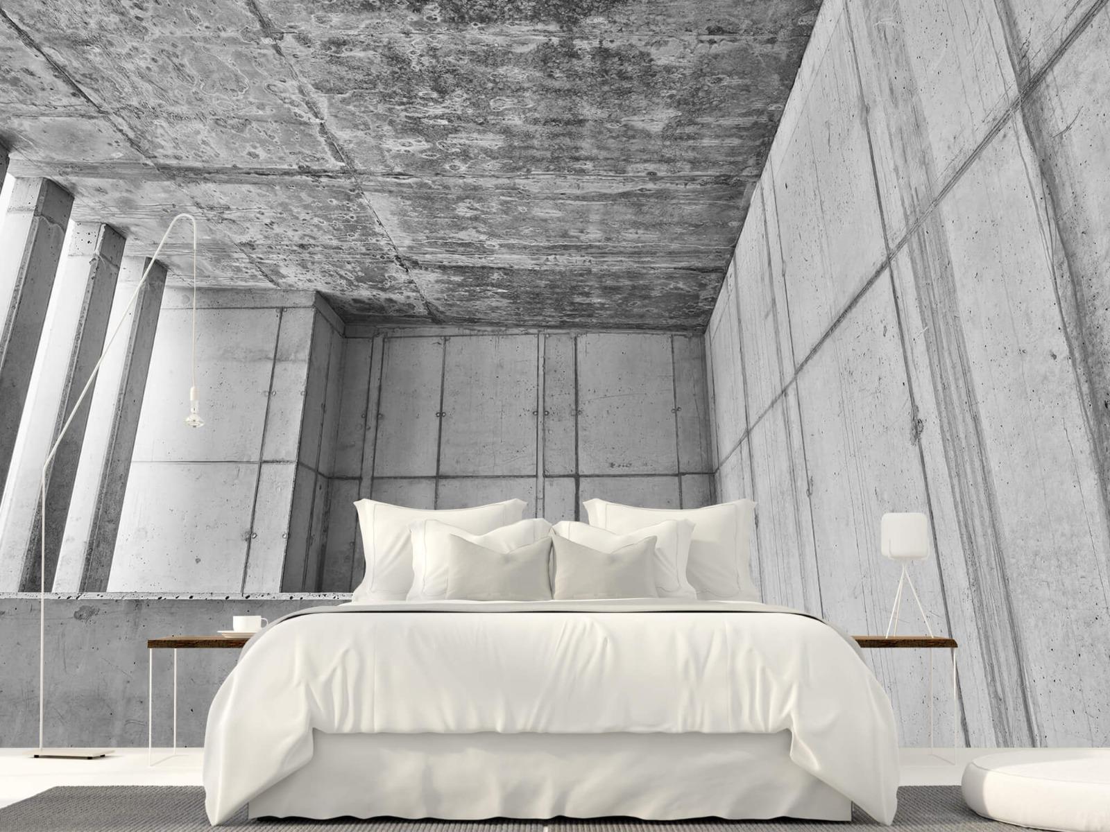 Betonlook behang - 3D beton - Kantoor 16