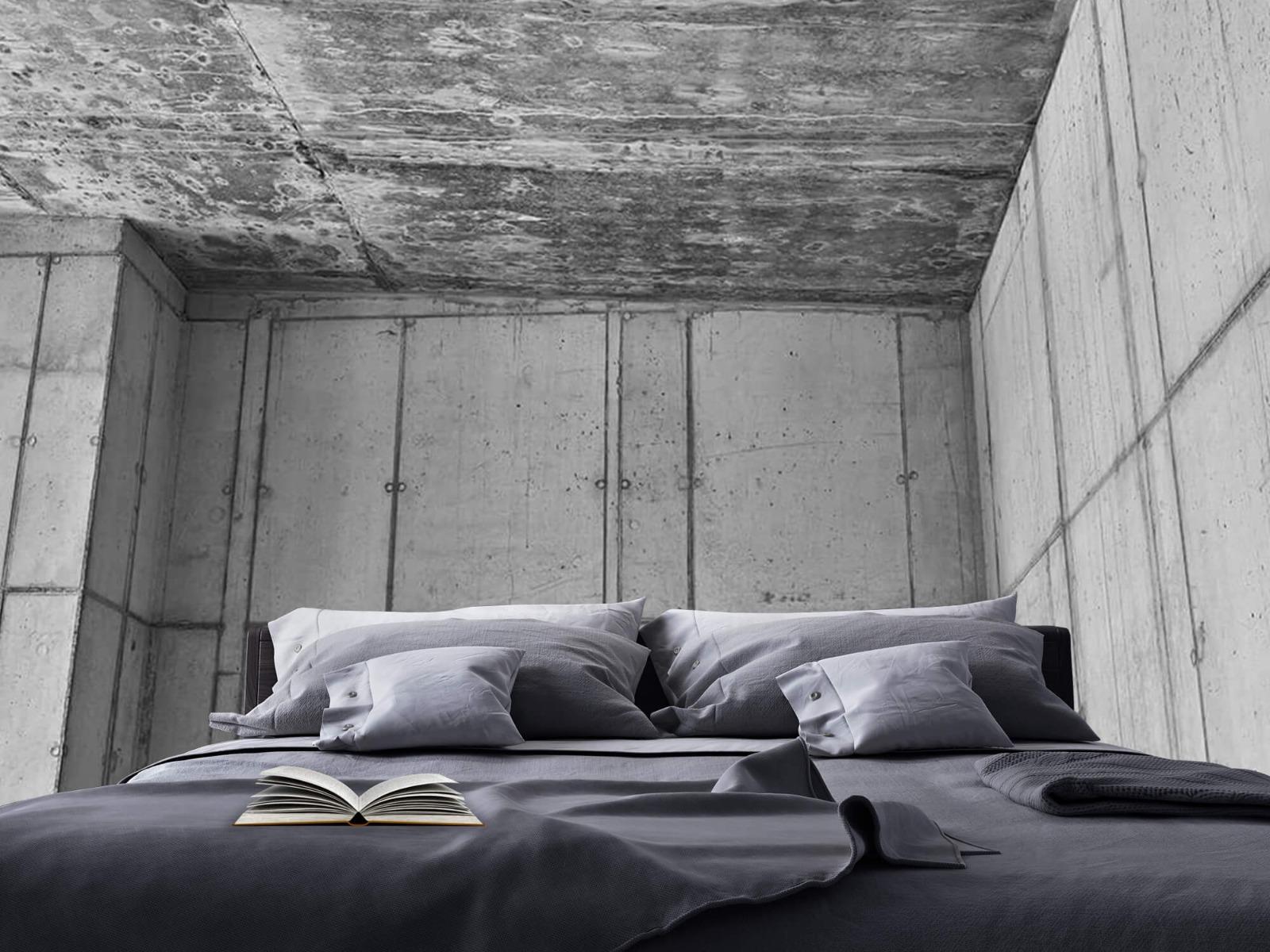 Betonlook behang - 3D beton - Kantoor 17