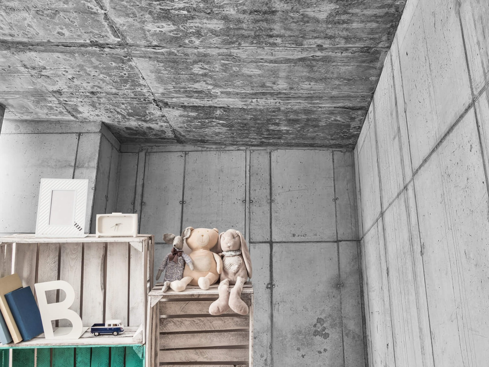 Betonlook behang - 3D beton - Kantoor 19