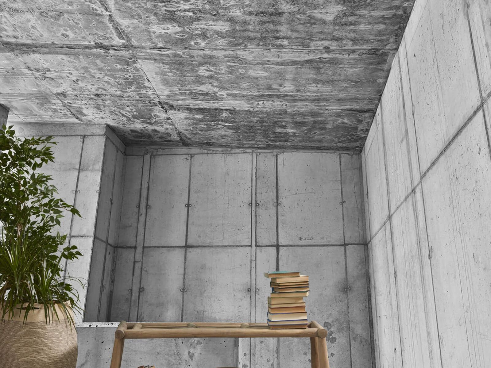 Betonlook behang - 3D beton - Kantoor 20
