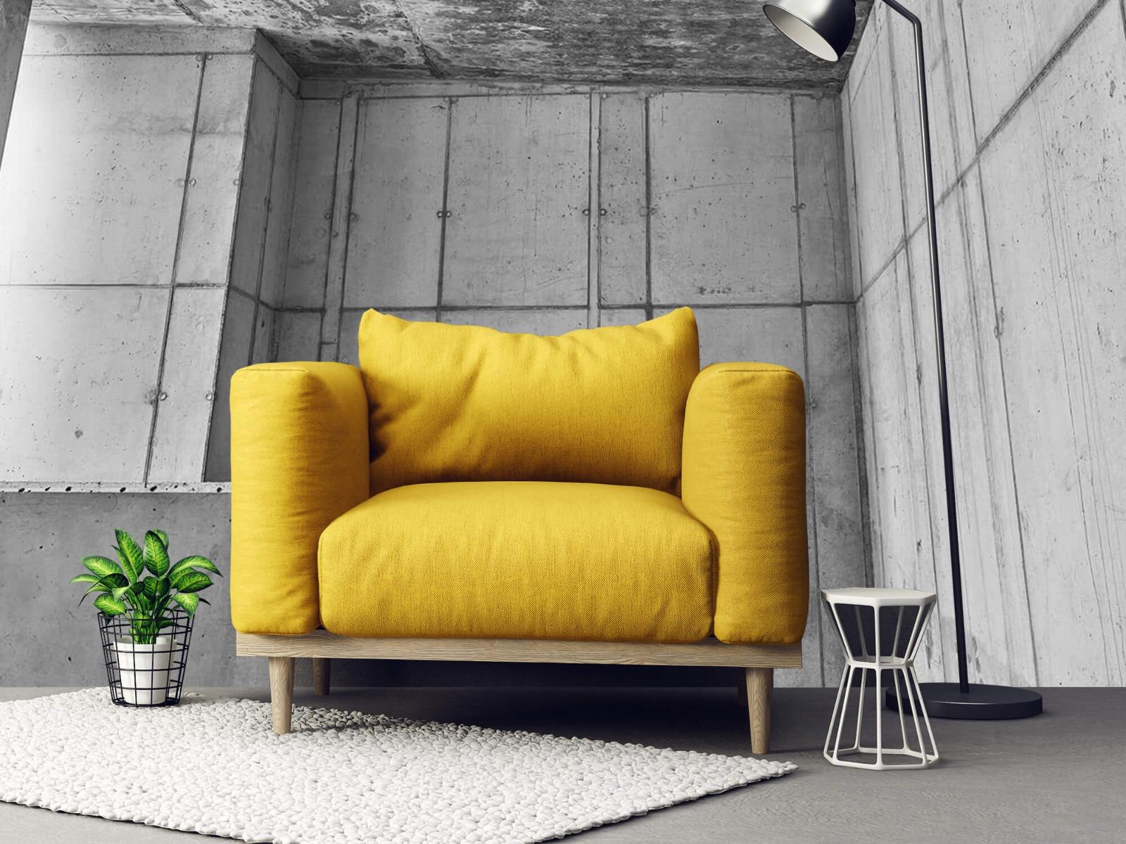 Betonlook behang - 3D beton - Kantoor 21