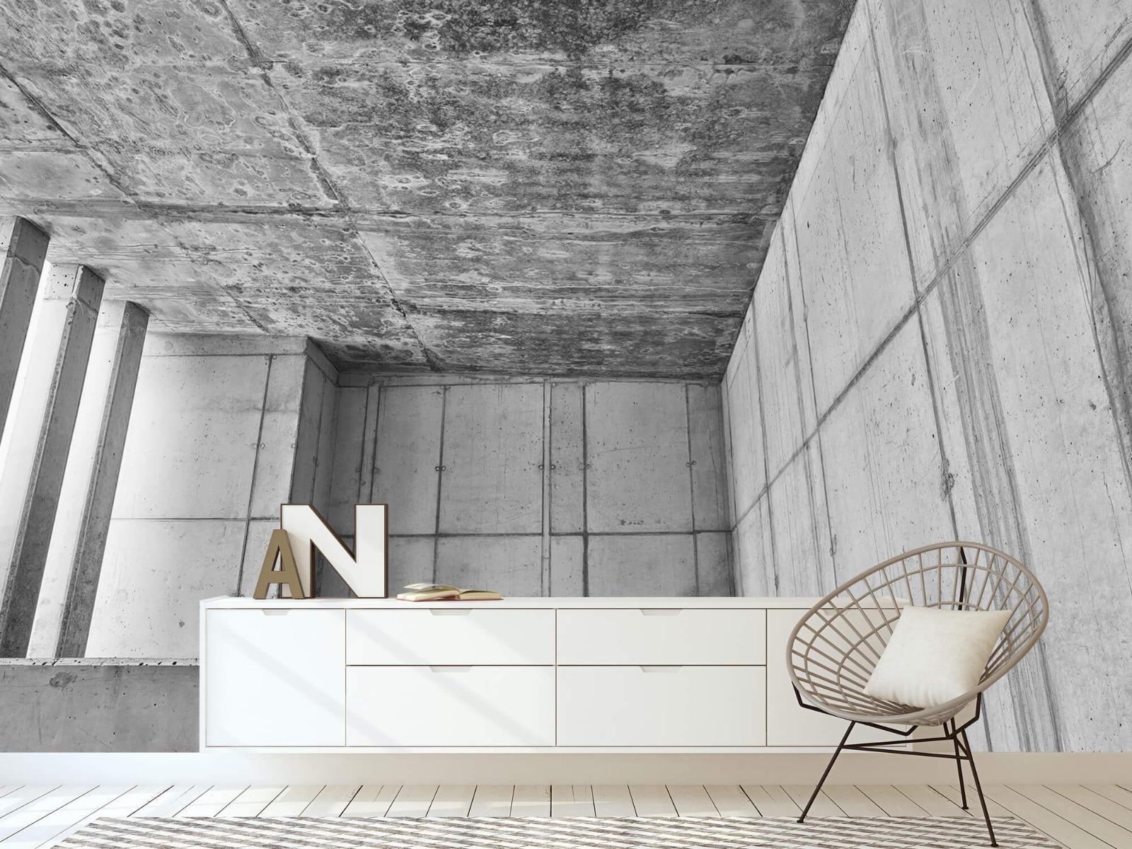 Betonlook behang - 3D beton - Kantoor 23