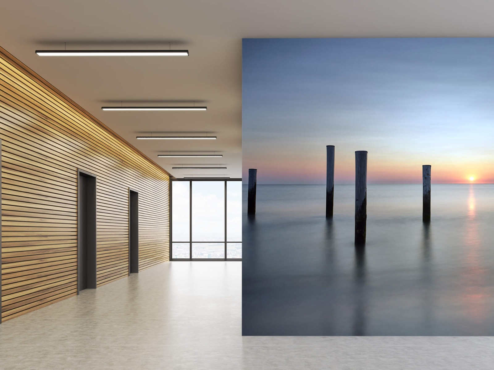 Zeeën en Oceanen - Strandpalen - Slaapkamer 10