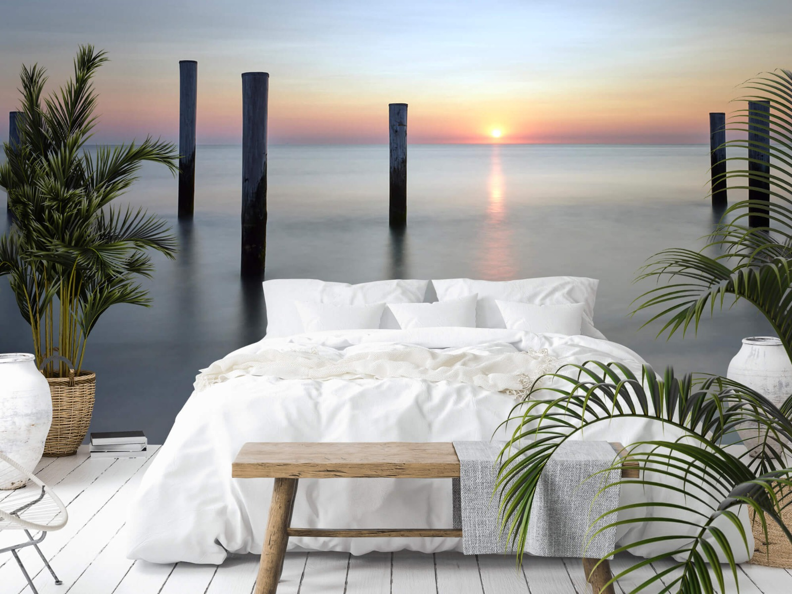 Zeeën en Oceanen - Strandpalen - Slaapkamer 17