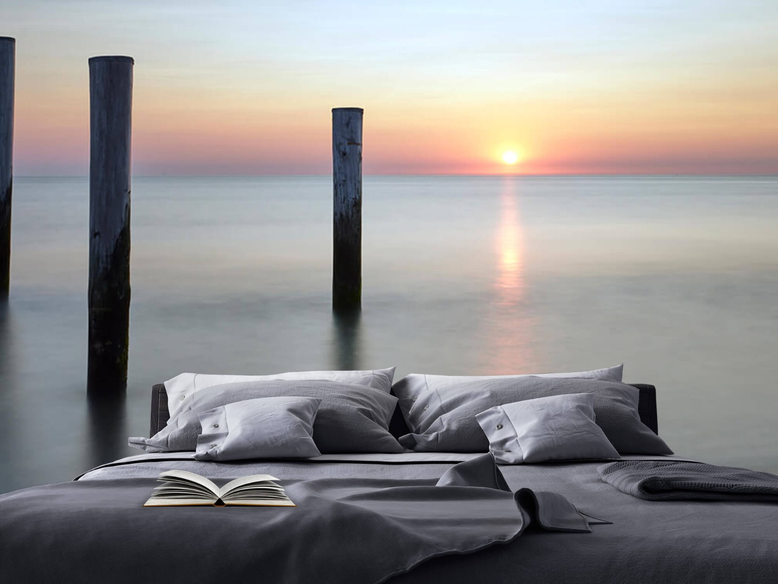 Zeeën en Oceanen - Strandpalen - Slaapkamer 2