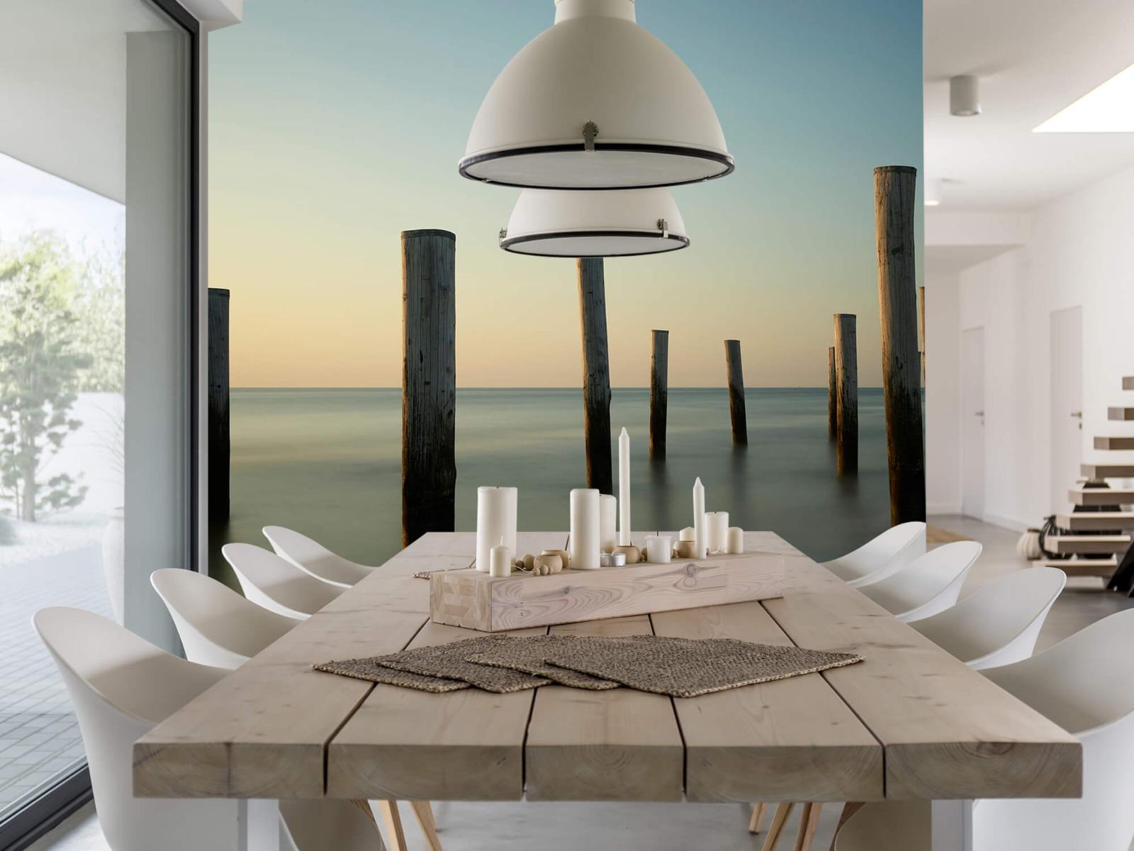 Zeeën en Oceanen - Houten strandpalen - Slaapkamer 6